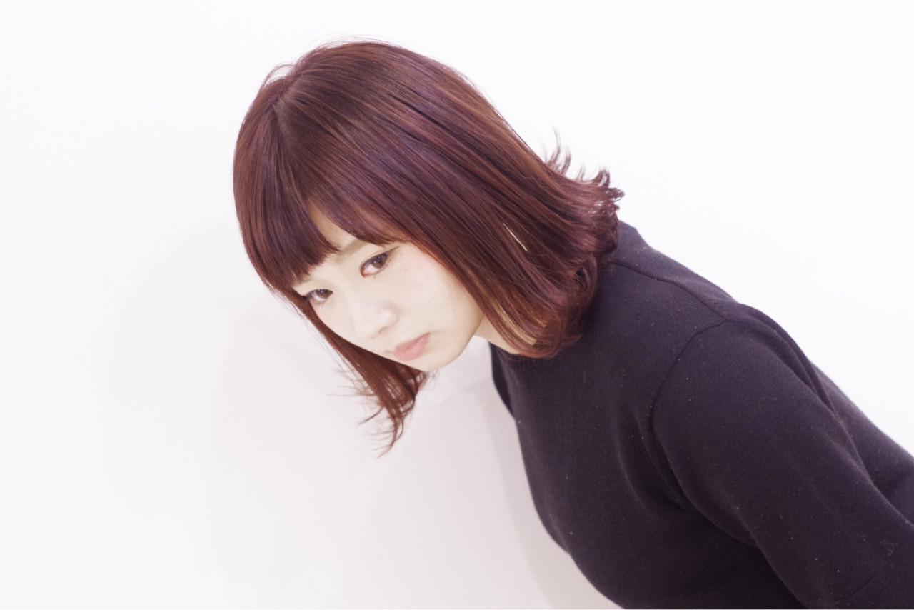ダブルカラー ブリーチ 外国人風カラー レッドヘアスタイルや髪型の写真・画像
