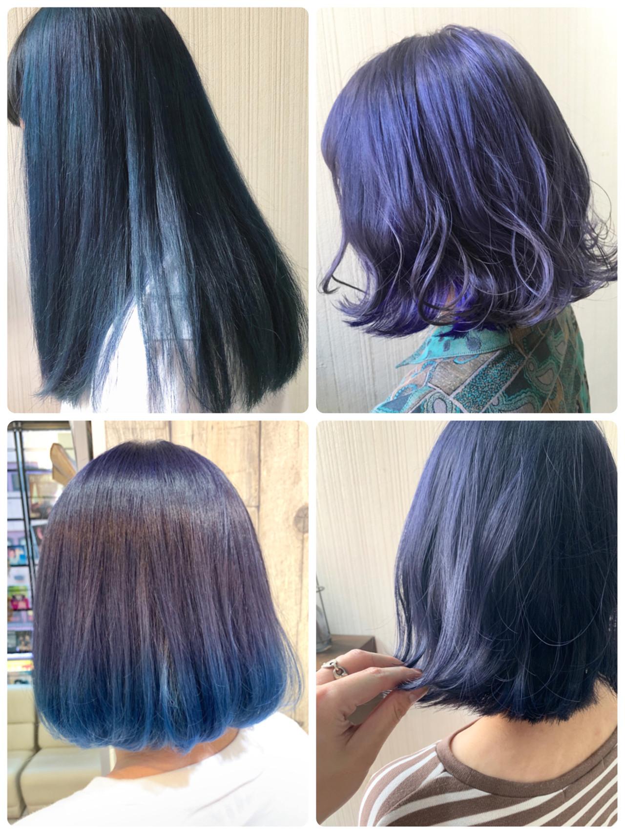 ブルーアッシュ ナチュラル ミディアム ヘアアレンジ ヘアスタイルや髪型の写真・画像 | 土屋一貴 / TOMCAT