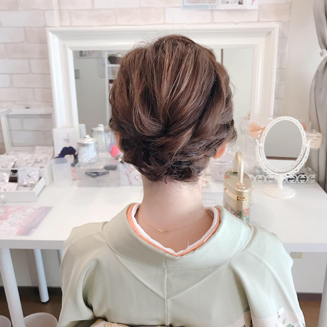 上品 和装 ボブ 結婚式ヘアスタイルや髪型の写真・画像
