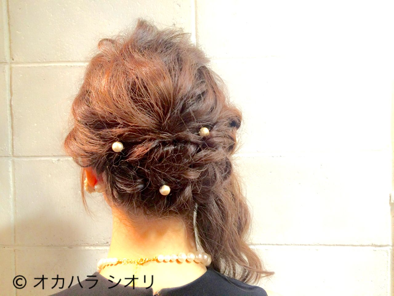 パーティ 波ウェーブ ゆるふわ ミディアム ヘアスタイルや髪型の写真・画像 | オカハラ シオリ / ninon