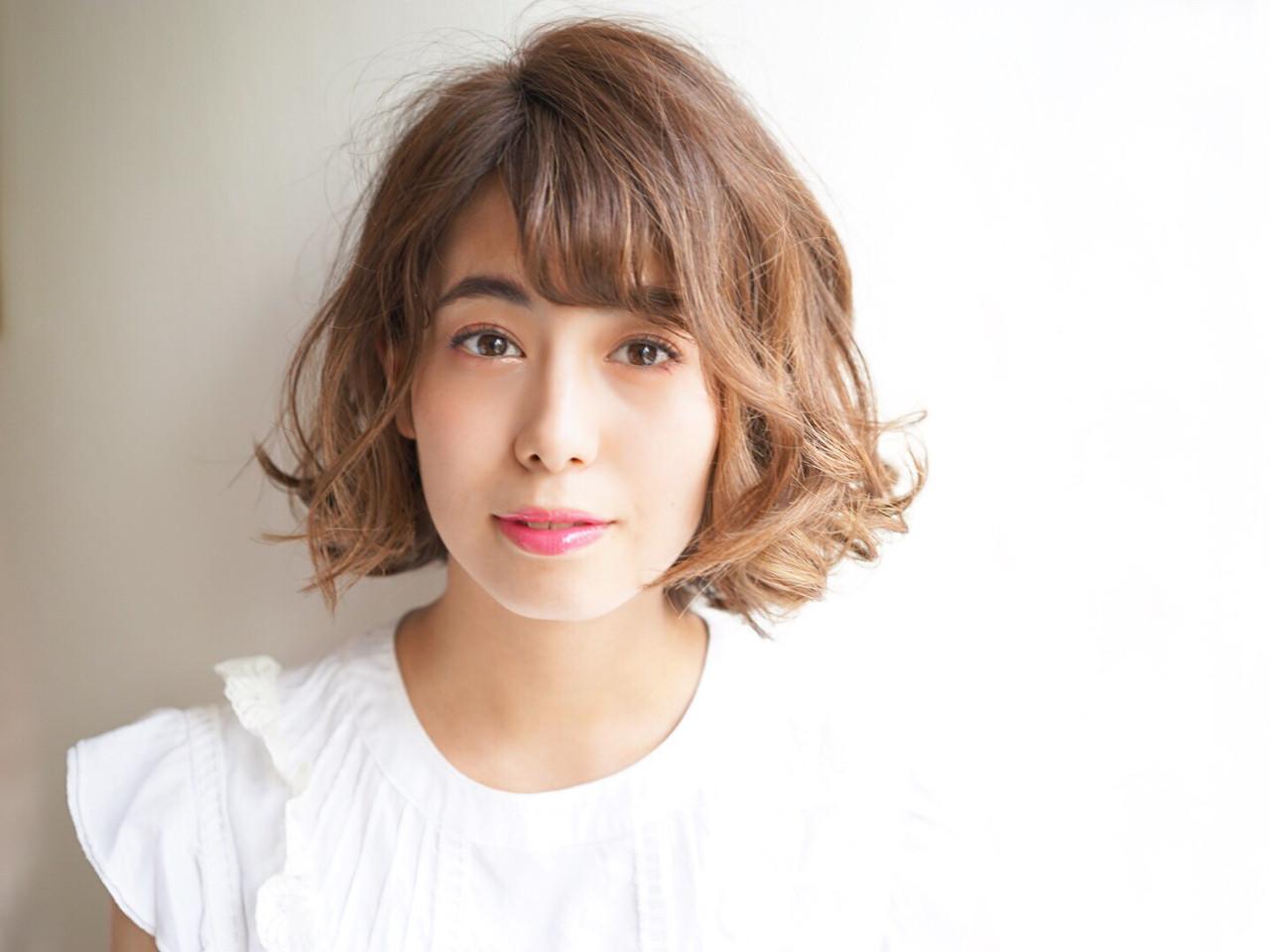 ナチュラル パーマ ボブ キュート ヘアスタイルや髪型の写真・画像 | Tadao Shimodaira/FLOW / FLOW aoyama
