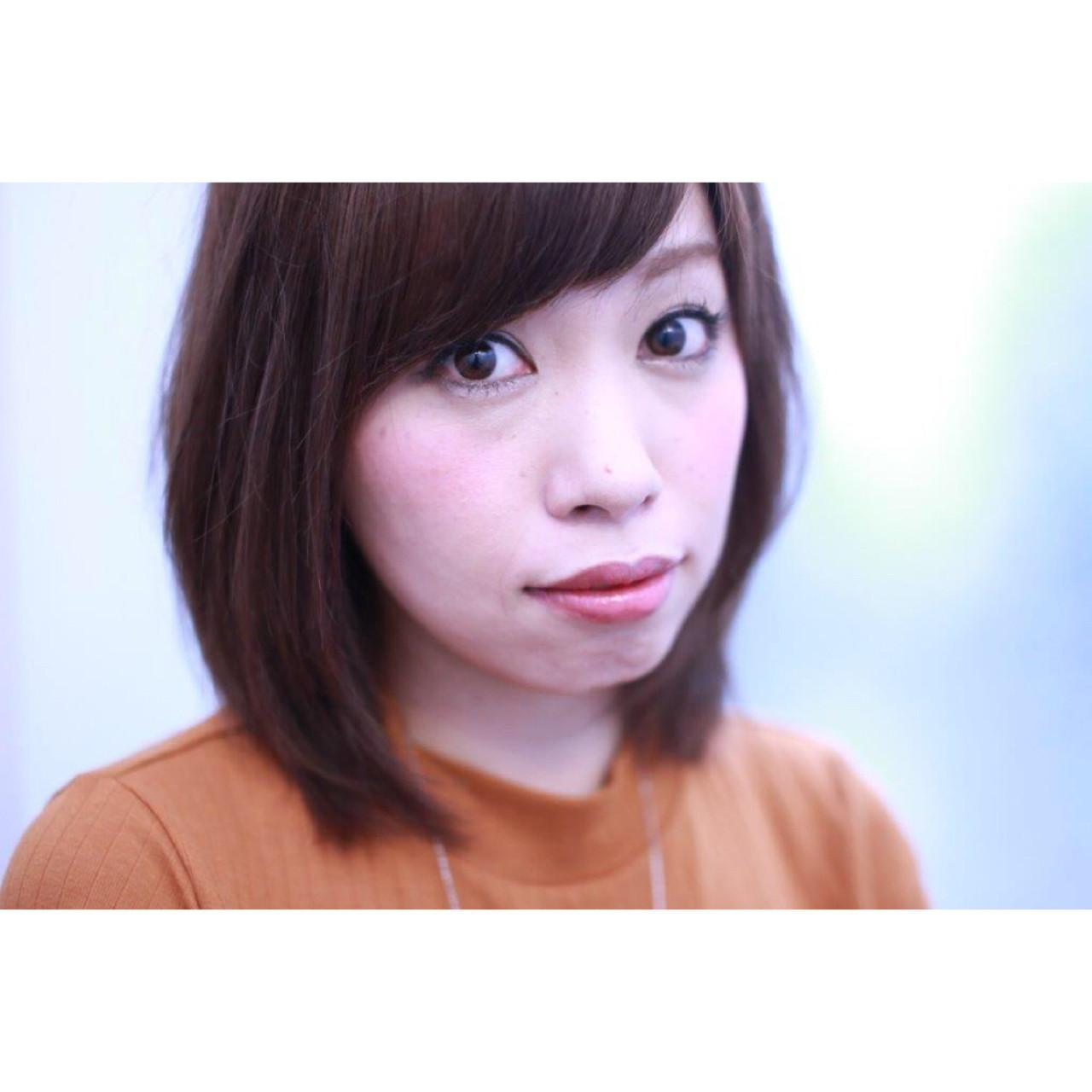 ミディアム ボブ 色気 ピンク ヘアスタイルや髪型の写真・画像   Yumi Hiramatsu / Sourire Imaizumi【スーリール イマイズミ】
