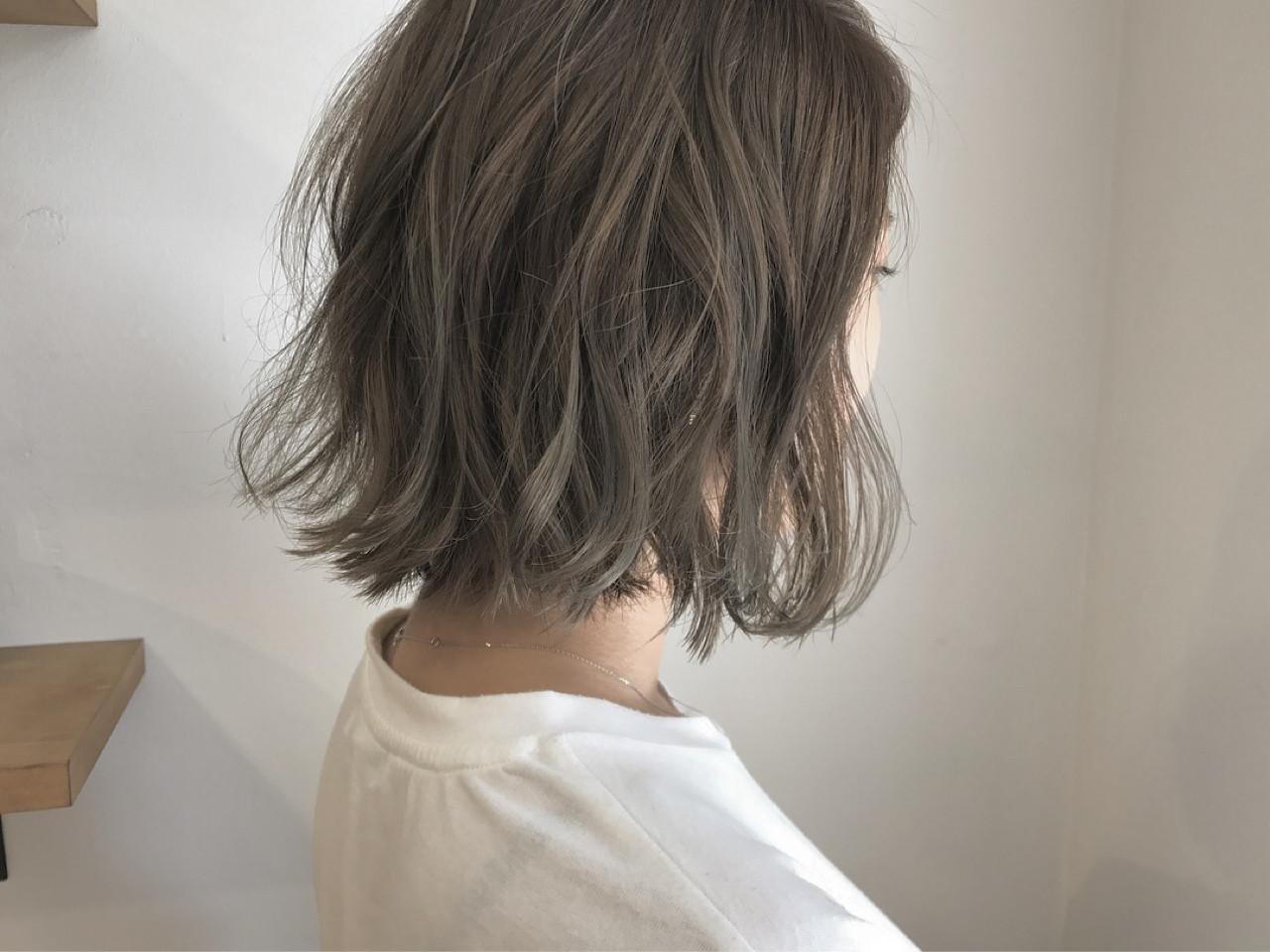 ナチュラル 透明感 切りっぱなし 秋 ヘアスタイルや髪型の写真・画像 | KENTO.NOESALON / NOE SALON