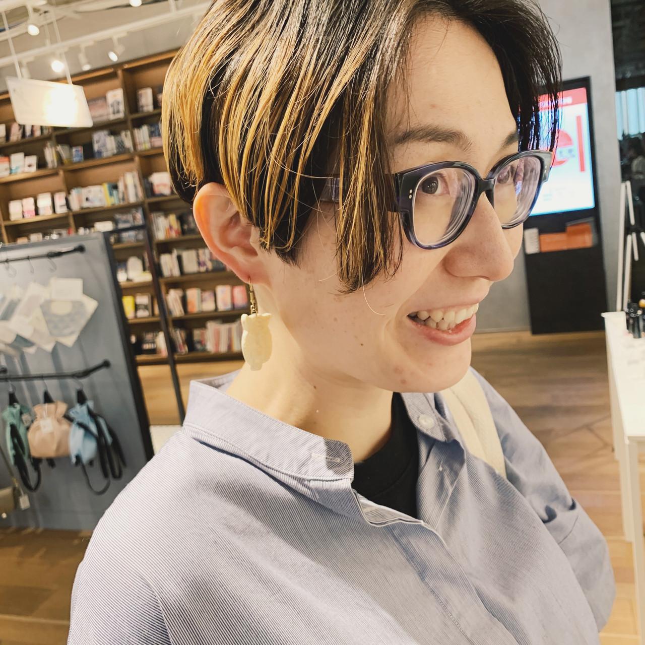 ハンサムショート ブリーチ ショート 外国人風カラー ヘアスタイルや髪型の写真・画像   ミヤタリョウ/ボブ/ショート/ナチュラル / hair S.COEUR×Cu 枚方T-SITE店