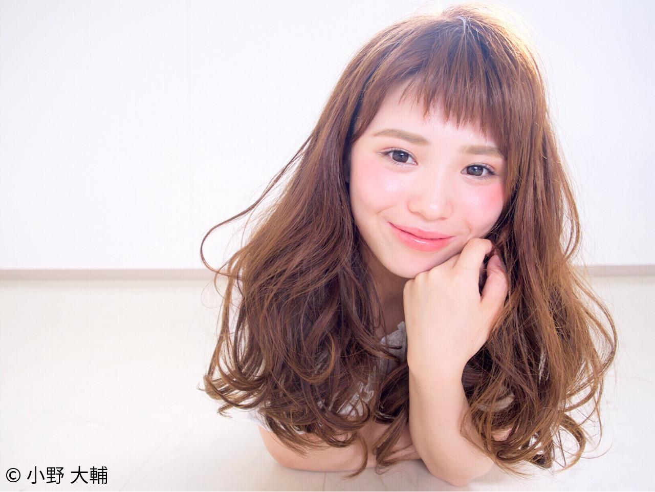 色気 ナチュラル 斜め前髪 パーマ ヘアスタイルや髪型の写真・画像 | 小野 大輔 / OHIA  for plumeria