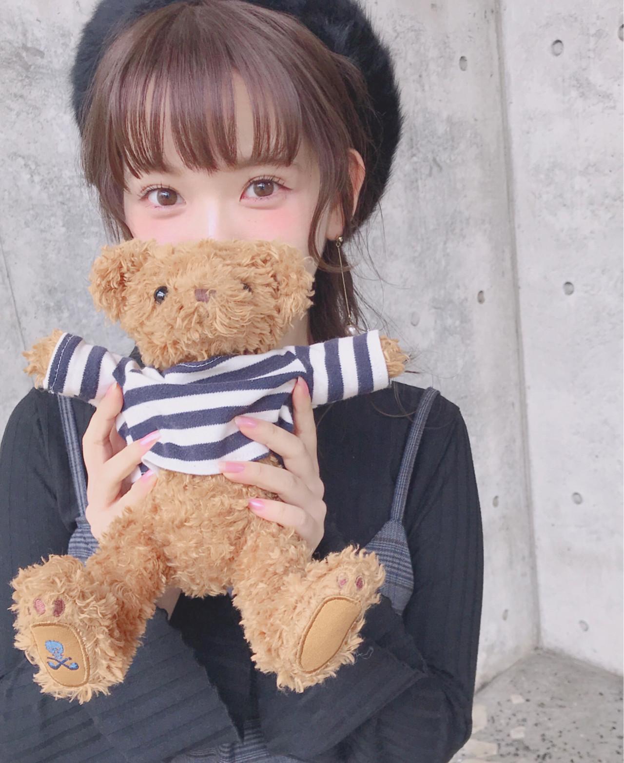 ガーリー 簡単ヘアアレンジ ミディアム 冬 ヘアスタイルや髪型の写真・画像 | Wataru Maeda / cache cache