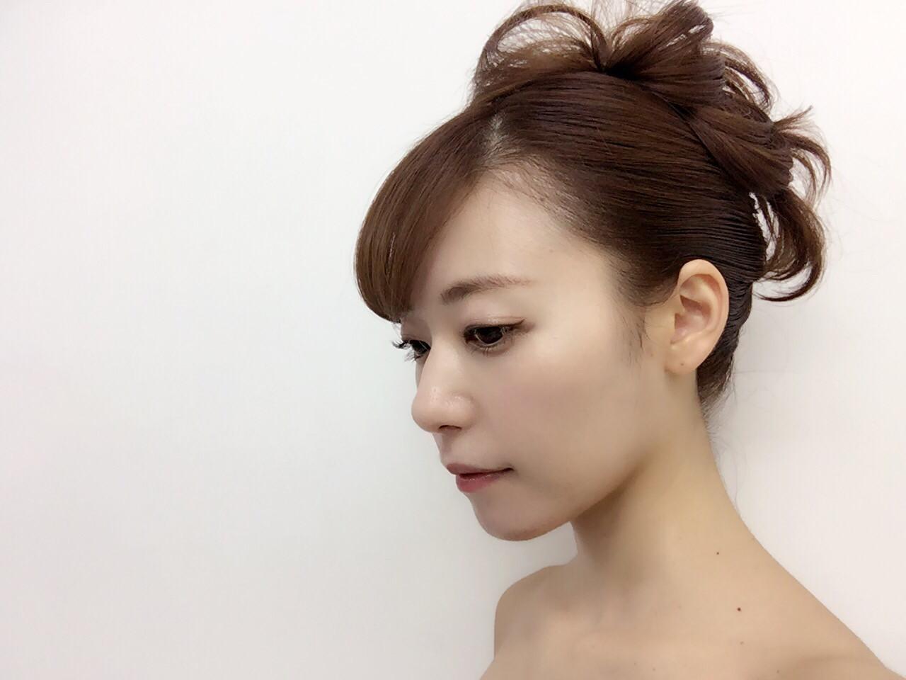 ロング 大人女子 夜会巻 モード ヘアスタイルや髪型の写真・画像 | yoko kog /
