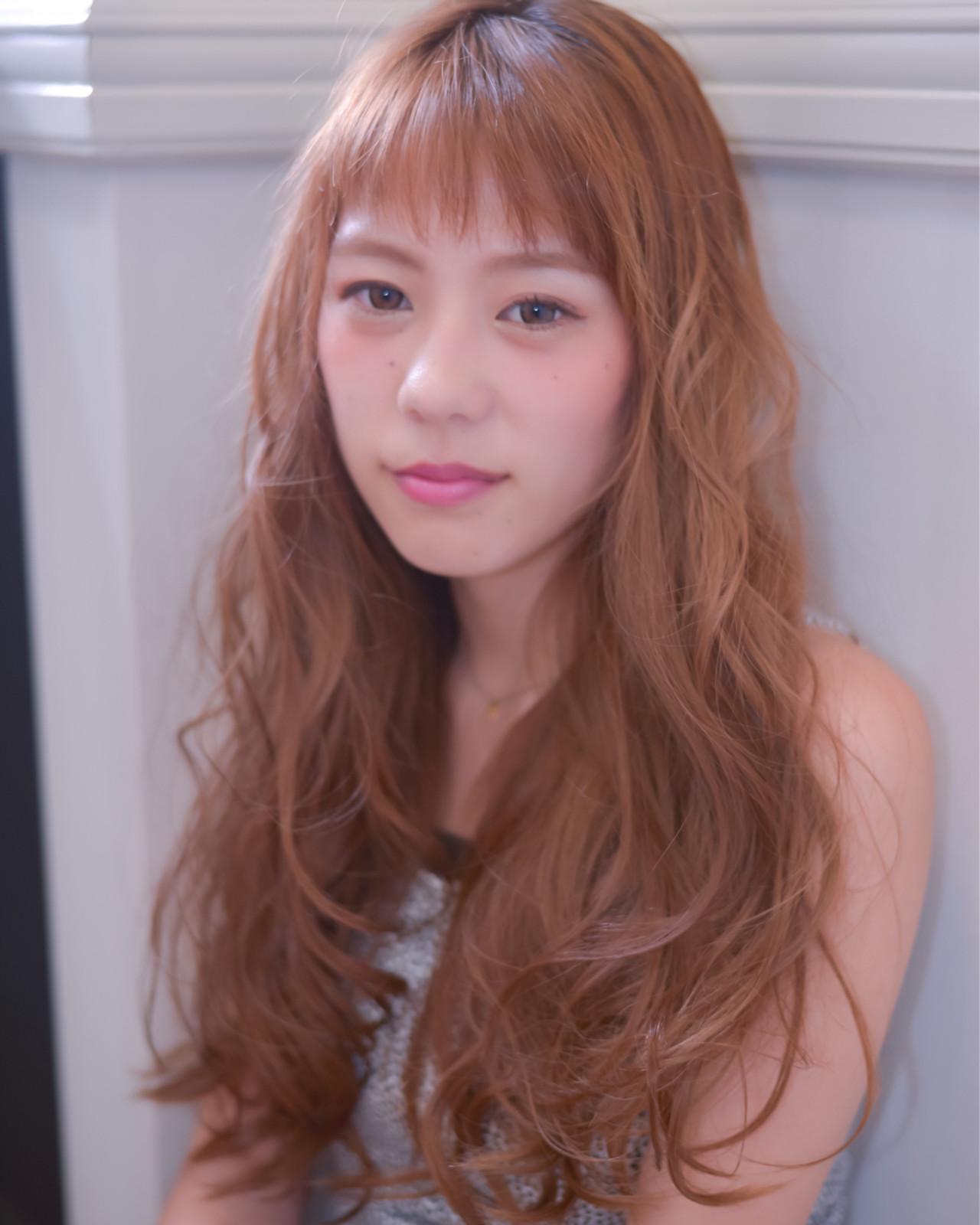 ロング ストリート ゆるふわ ブラウン ヘアスタイルや髪型の写真・画像 | 佐々木 真吾 / Ash北浦和