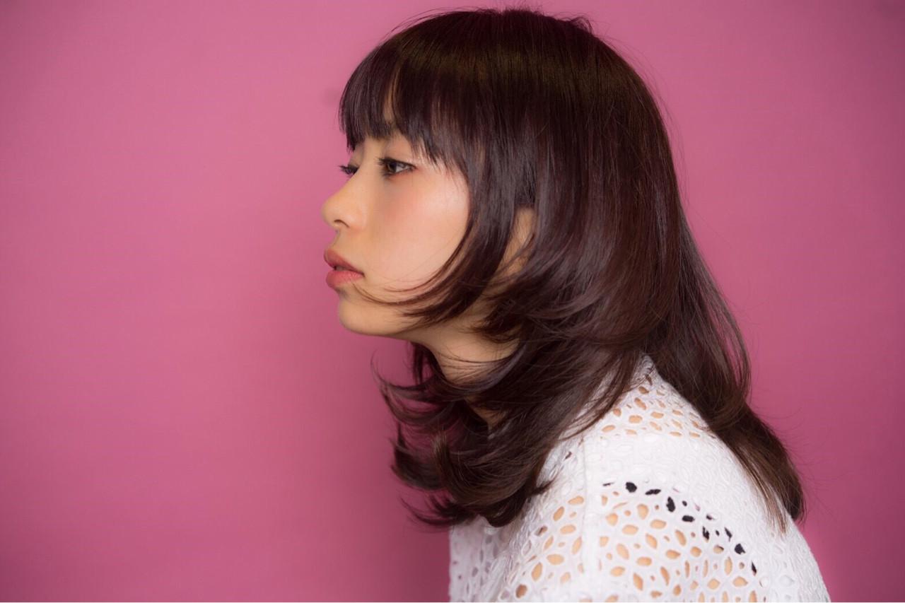 ピンク フェミニン ウルフカット ピンクアッシュ ヘアスタイルや髪型の写真・画像   ひろみ /