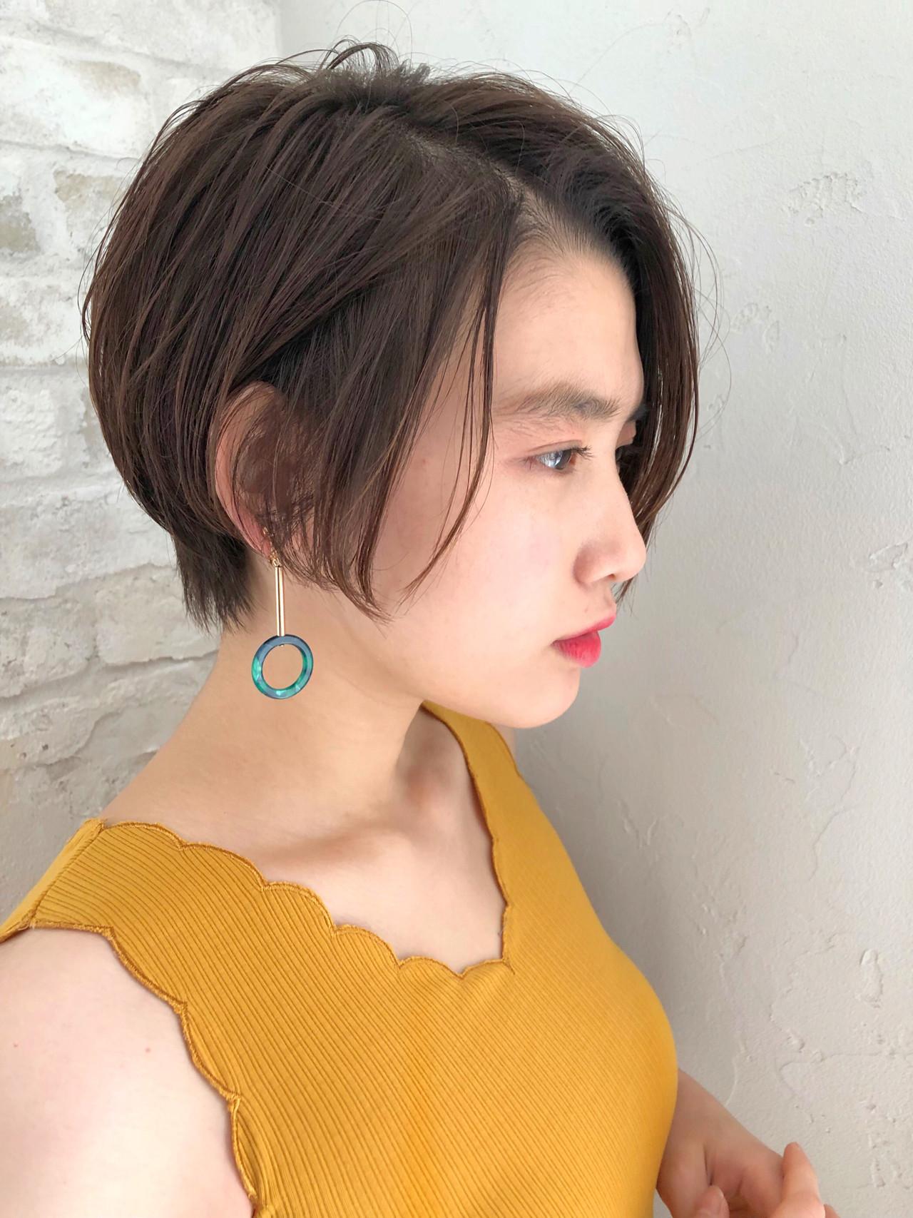 パーマ デート ヘアアレンジ ショート ヘアスタイルや髪型の写真・画像 | ナガヤ アキラ joemi 新宿 / joemi by Un ami