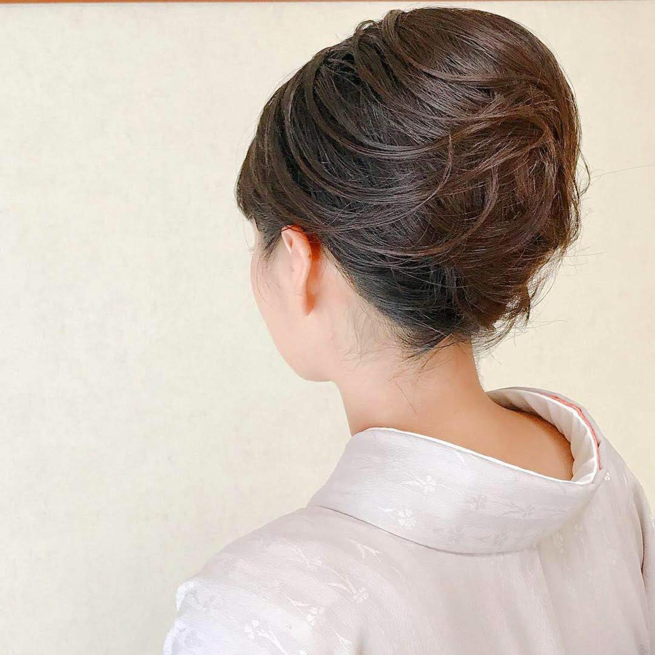 結婚式 結婚式ヘアアレンジ 和装ヘア ボブ ヘアスタイルや髪型の写真・画像