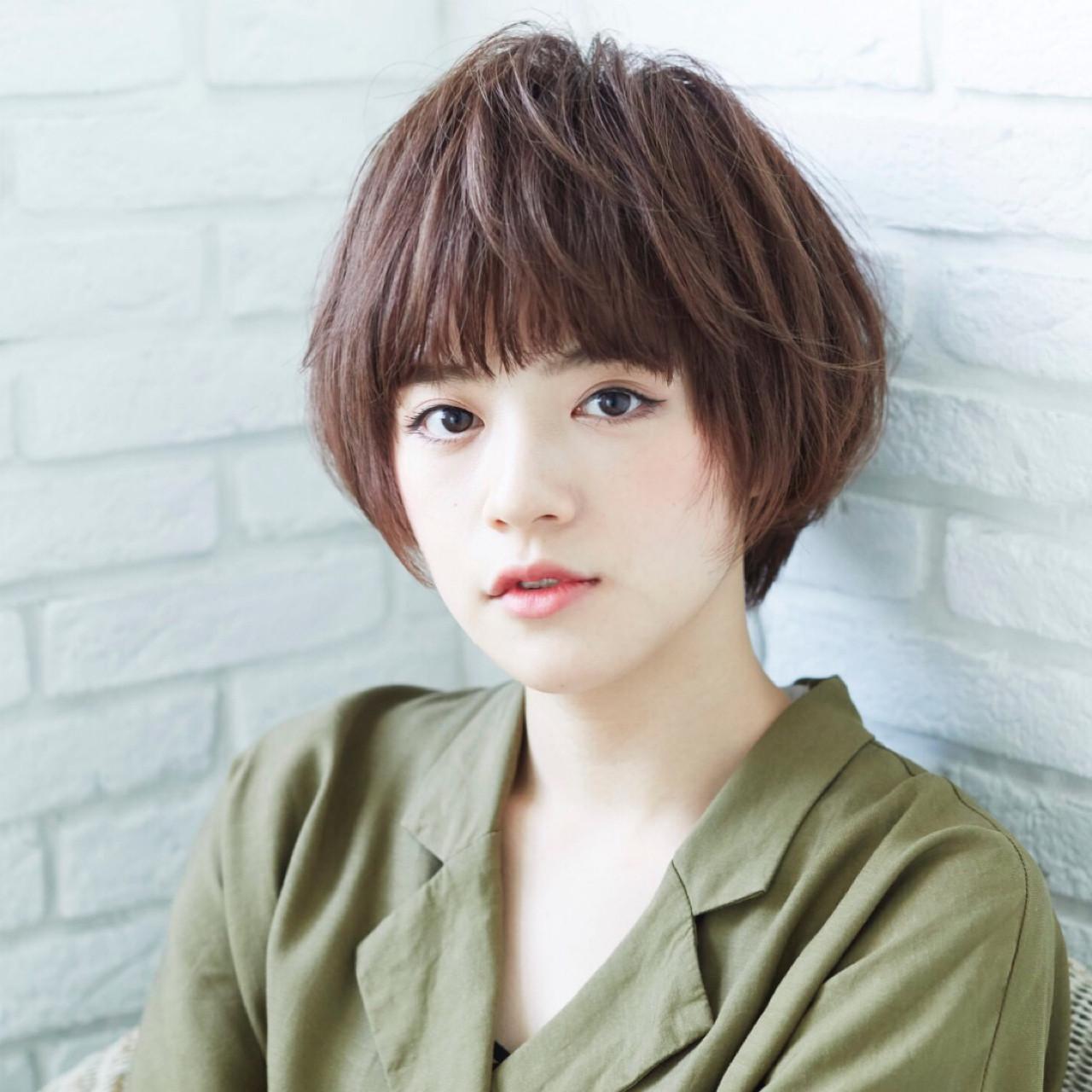 大人かわいい 前髪あり ナチュラル ワイドバング ヘアスタイルや髪型の写真・画像 | 斉藤 弘旭 / Piche hair design