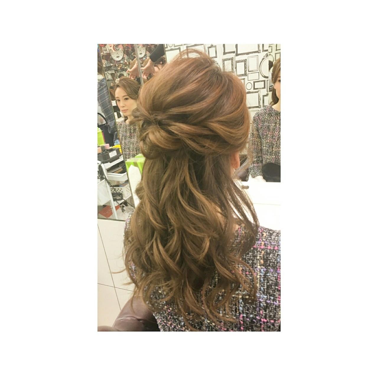 コンサバ 簡単ヘアアレンジ フェミニン 大人女子ヘアスタイルや髪型の写真・画像