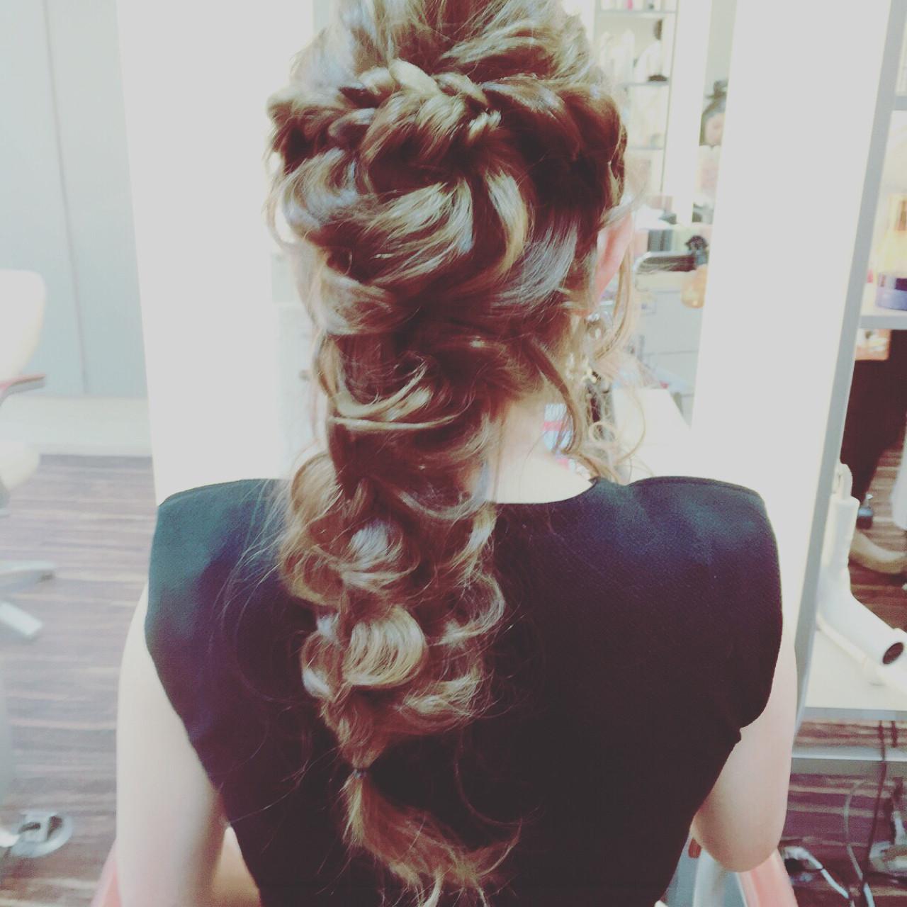 ヘアアレンジ 二次会 大人女子 結婚式ヘアスタイルや髪型の写真・画像