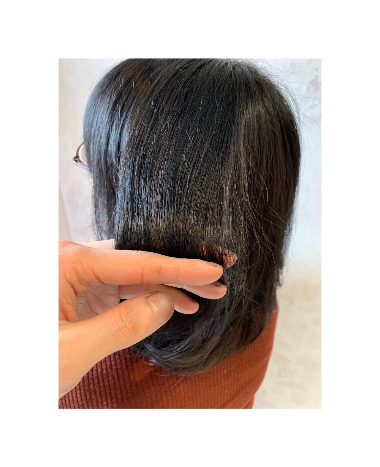 ナチュラル ミディアム 艶髪 ヘアスタイルや髪型の写真・画像 | 角谷 崇 / hair  Cou Cou