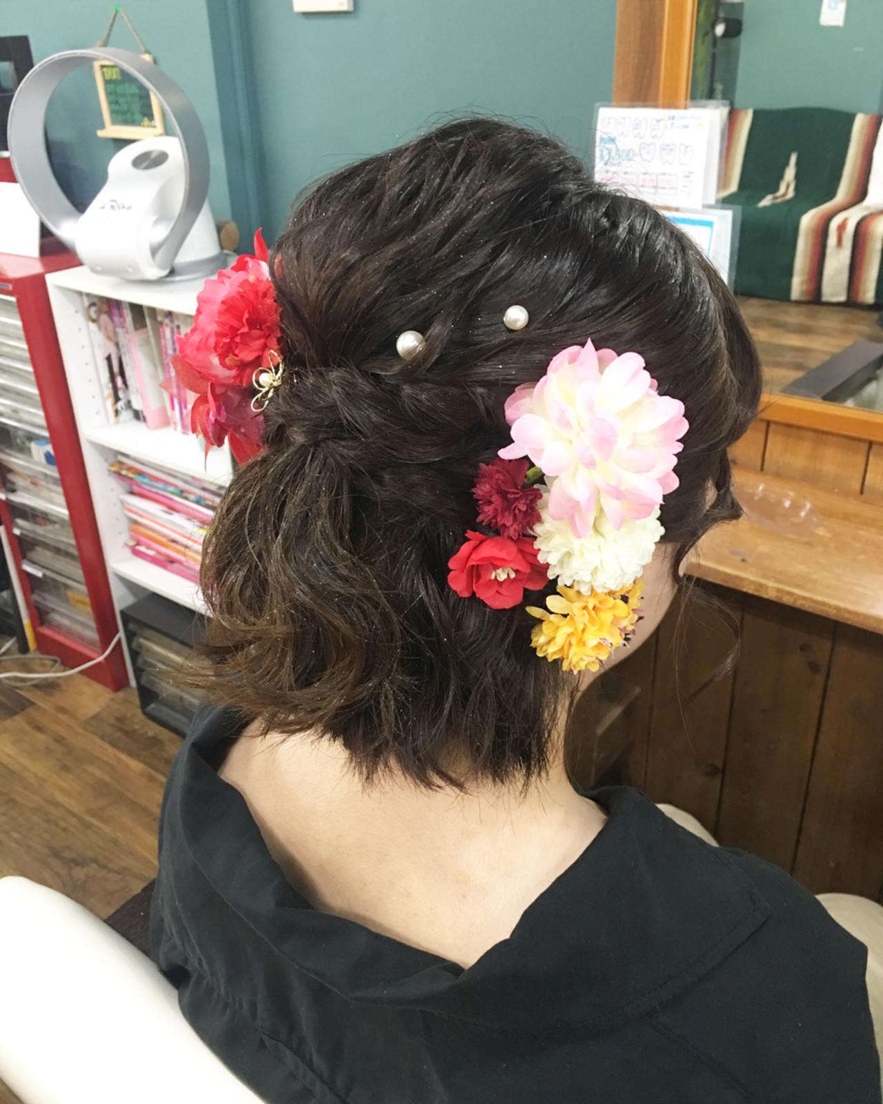 デート フェミニン ゆるふわ 成人式 ヘアスタイルや髪型の写真・画像 | さとみ / e'clat
