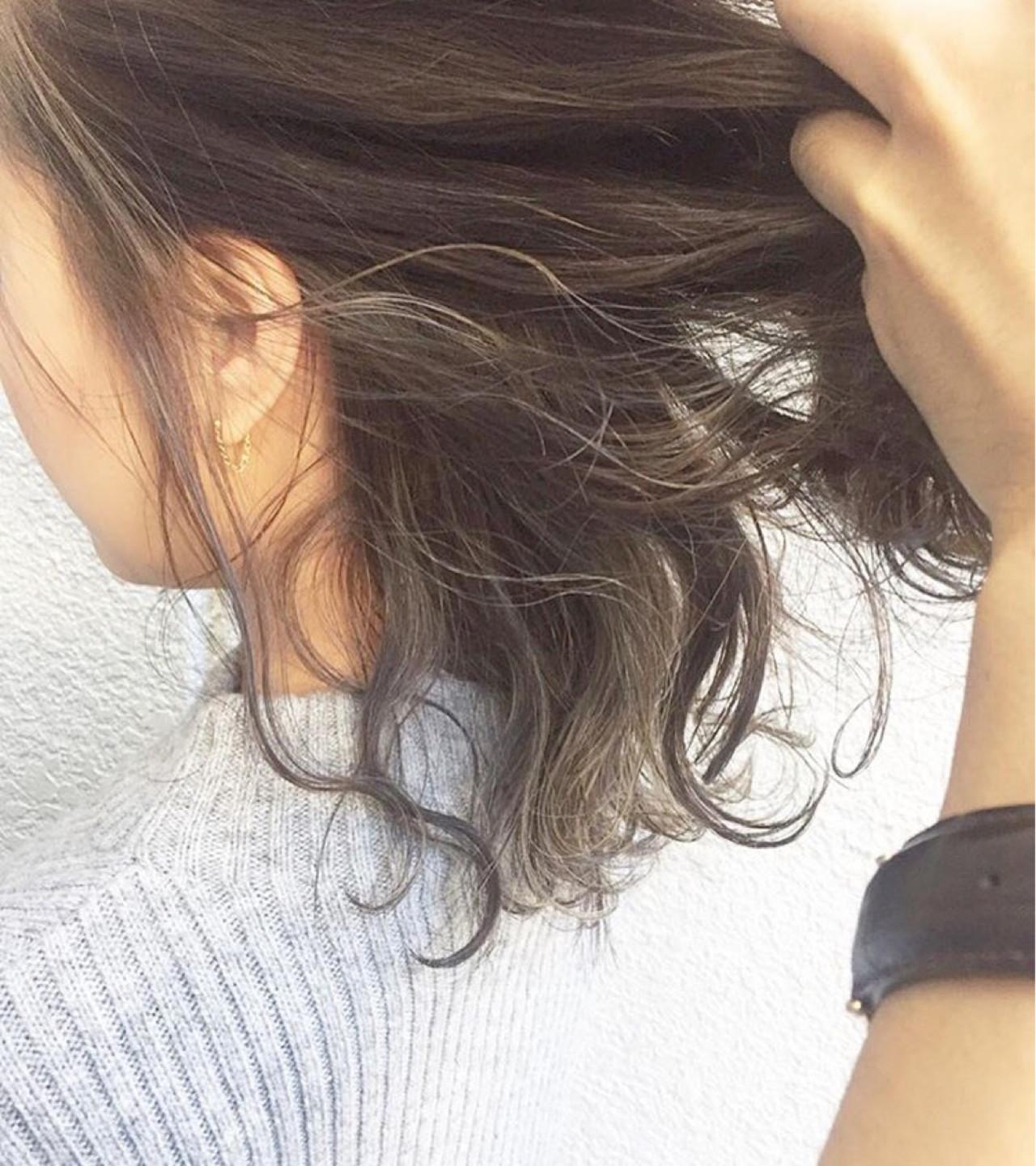 ハイライト ブラウン 大人かわいい グラデーションカラーヘアスタイルや髪型の写真・画像