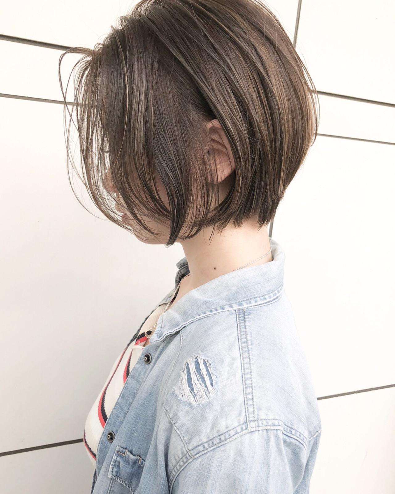 ショート 外国人風 ナチュラル ゆるふわヘアスタイルや髪型の写真・画像
