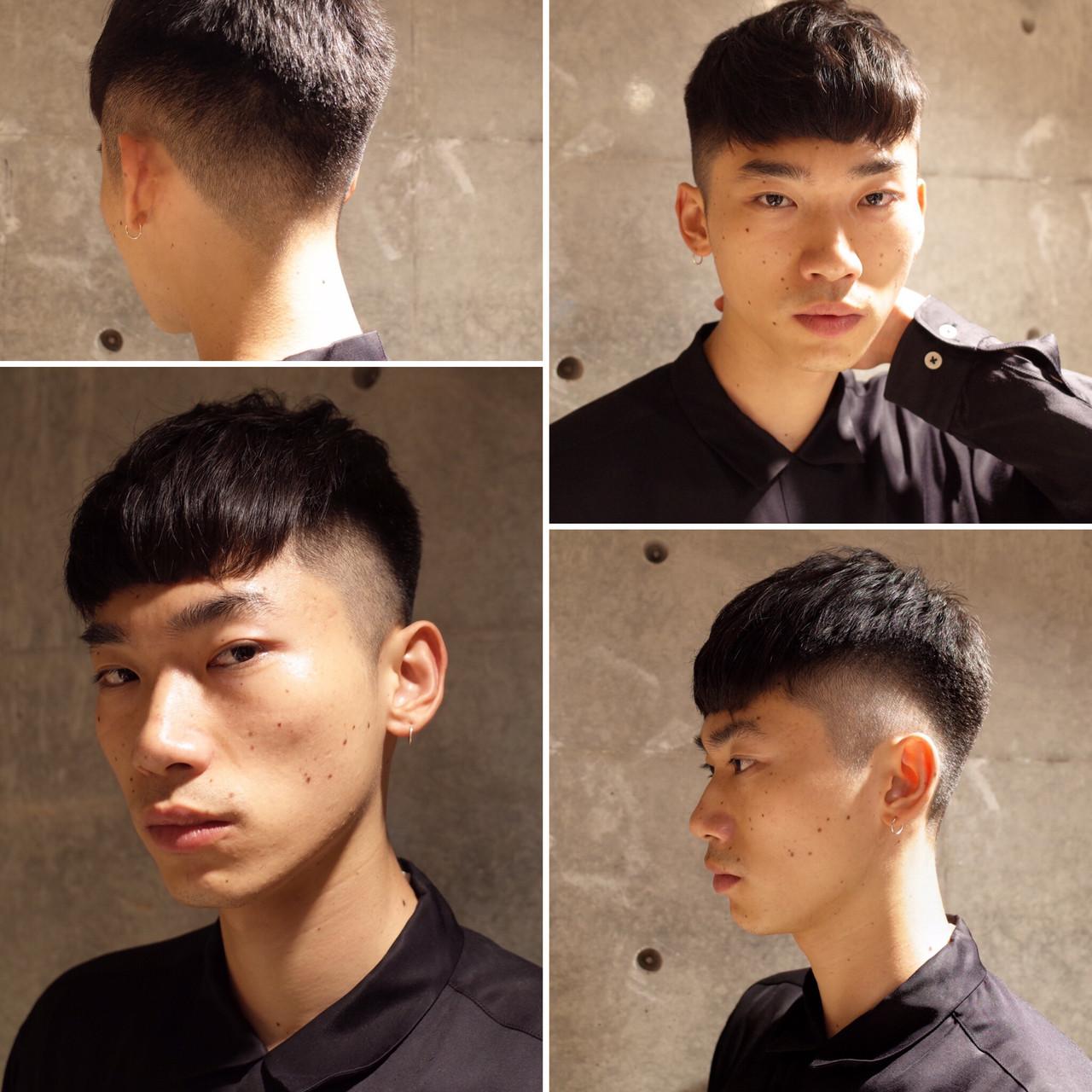 ショート ツーブロック メンズ ストリート ヘアスタイルや髪型の写真・画像   刈り上げ・2ブロック専門美容師 ヤマモトカズヒコ / MEN'S GROOMING SALON AOYAMA by kakimoto arms