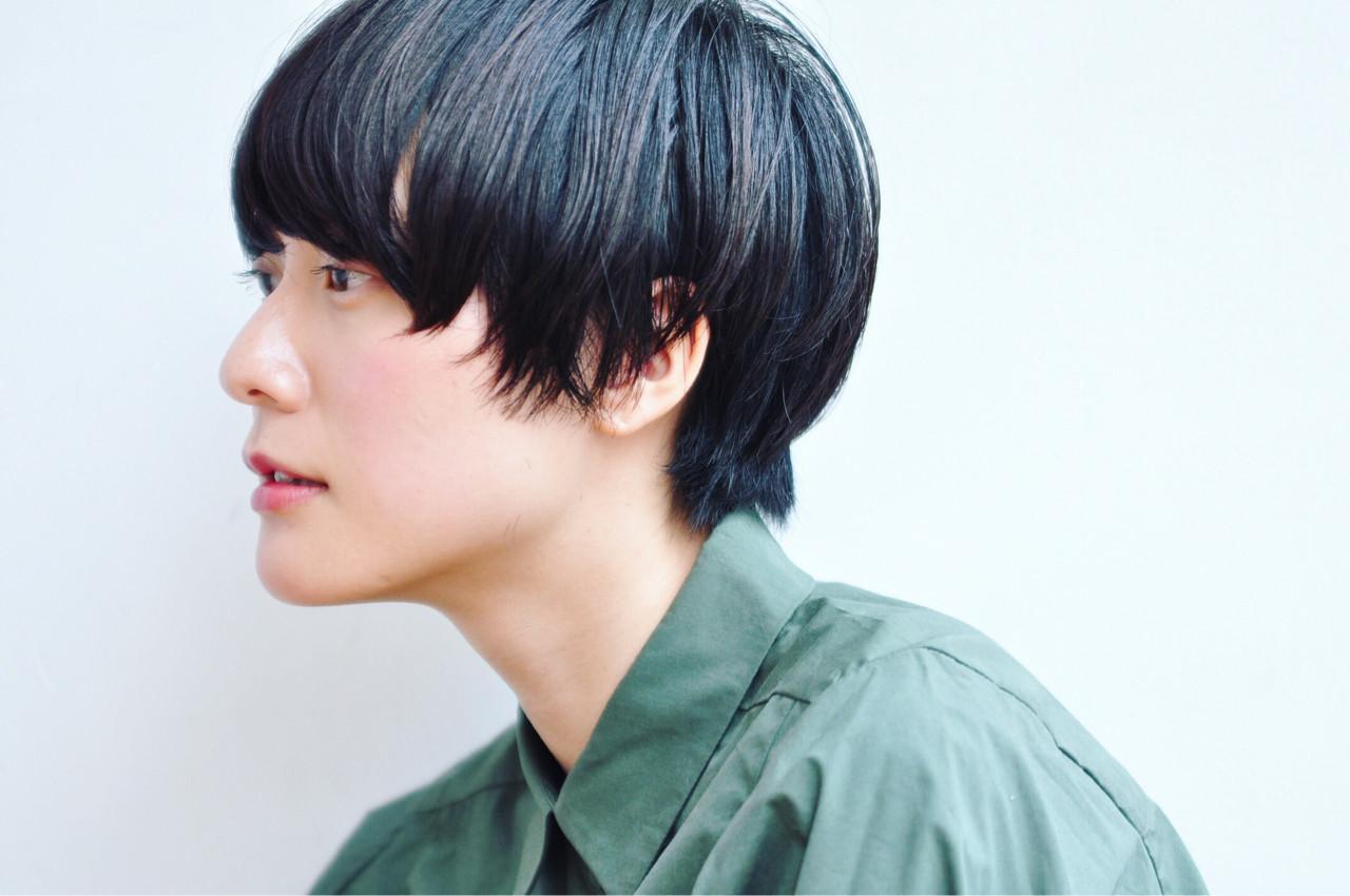 ジェンダーレス こなれ感 モード 小顔 ヘアスタイルや髪型の写真・画像 | 小走 祥菜 / tricca daikanyama