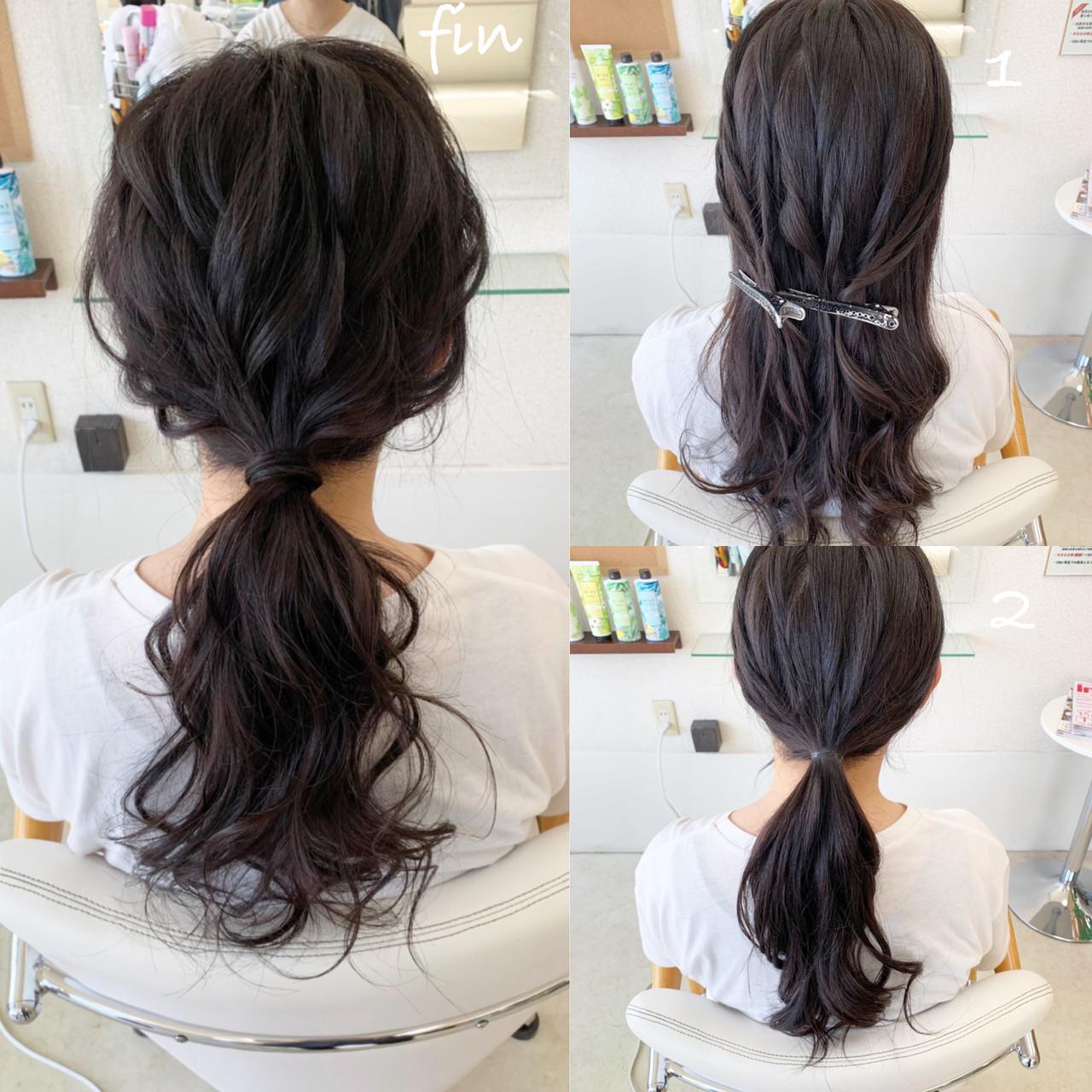 ヘアアレンジ ナチュラル デート 簡単ヘアアレンジ ヘアスタイルや髪型の写真・画像 | 新谷 朋宏 / Free hairstylist shinya