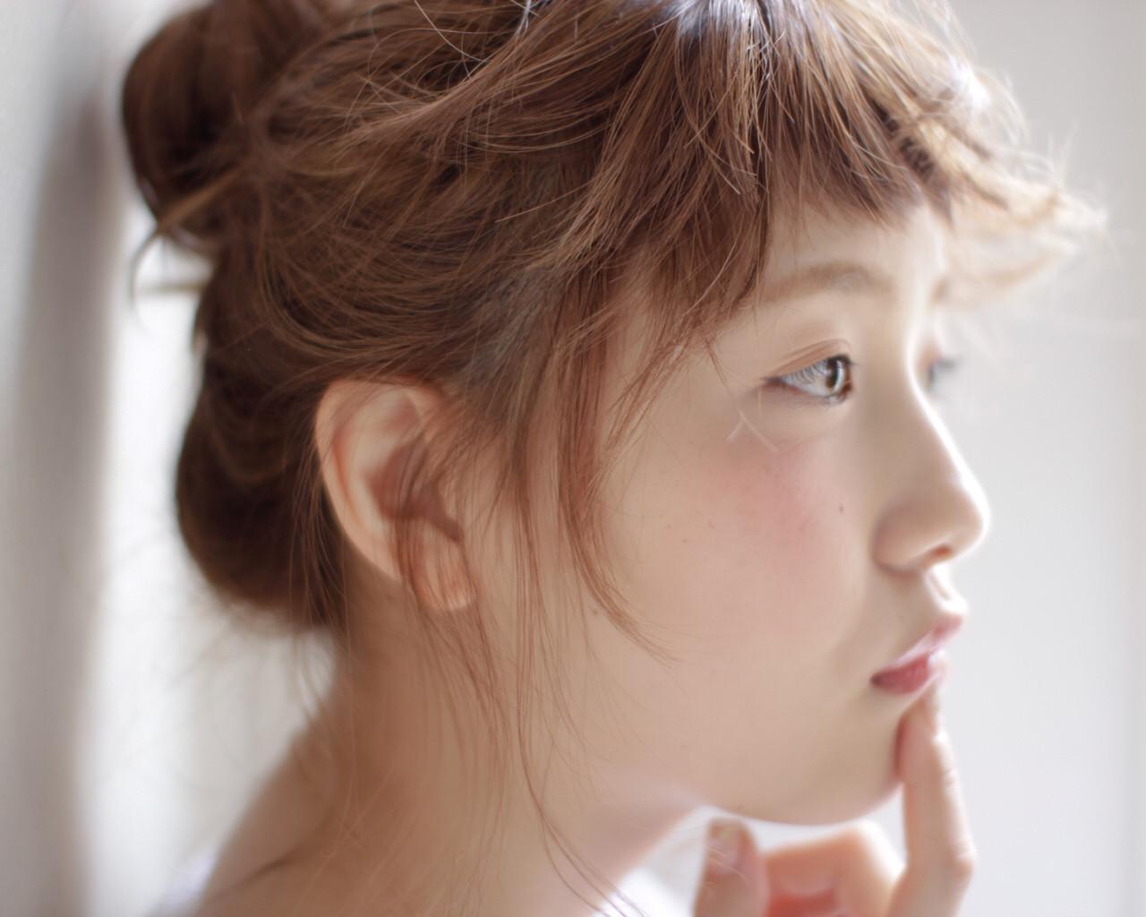 簡単ヘアアレンジ ヘアアレンジ ショート くせ毛風 ヘアスタイルや髪型の写真・画像 | 吉田将大 / chillo