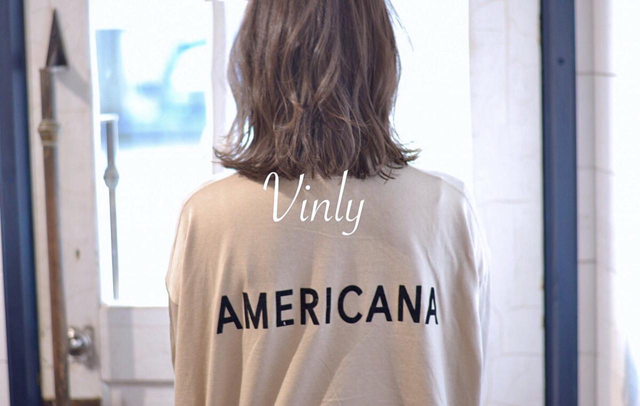 ミディアム ガーリー 簡単ヘアアレンジ ヘアアレンジ ヘアスタイルや髪型の写真・画像   norihiko yoshimoto / Vinly hair salon