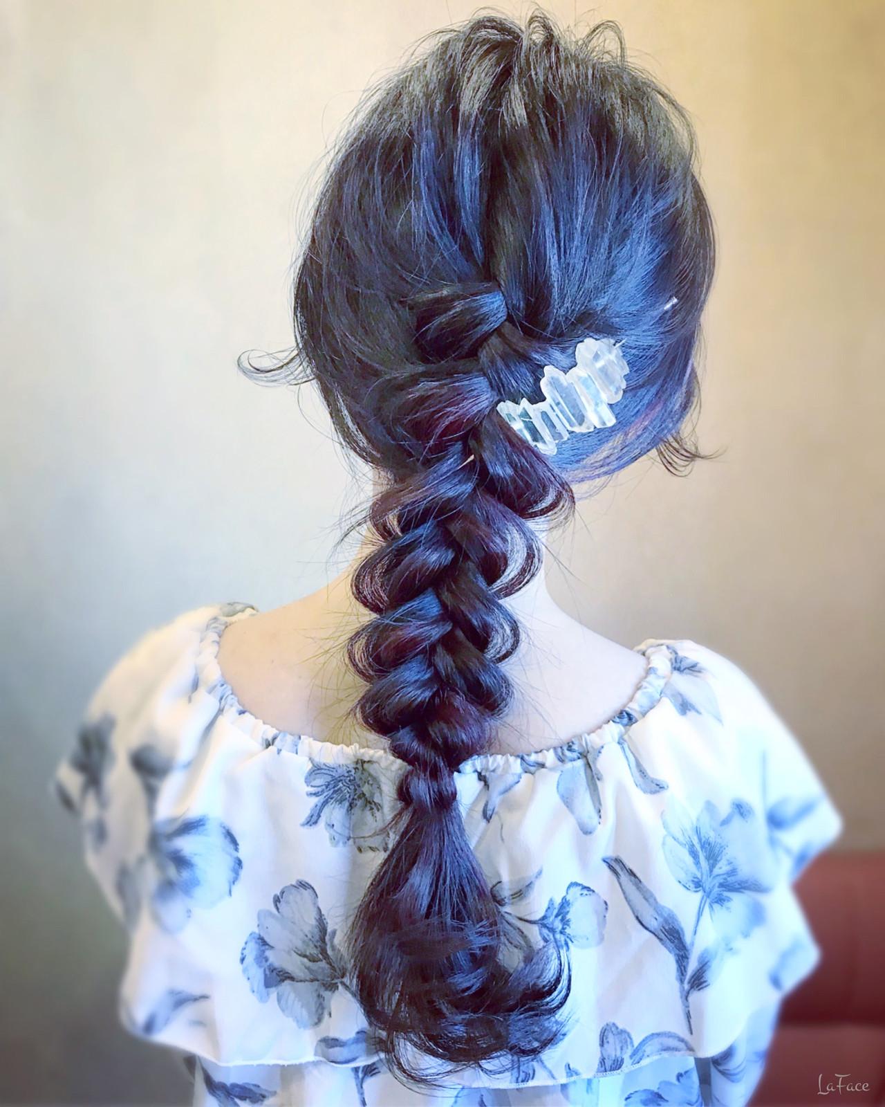 結婚式 フェミニン ロング パーティ ヘアスタイルや髪型の写真・画像 | 青柳 哲郎 / ラフェイス / LaFace / ラフェイス