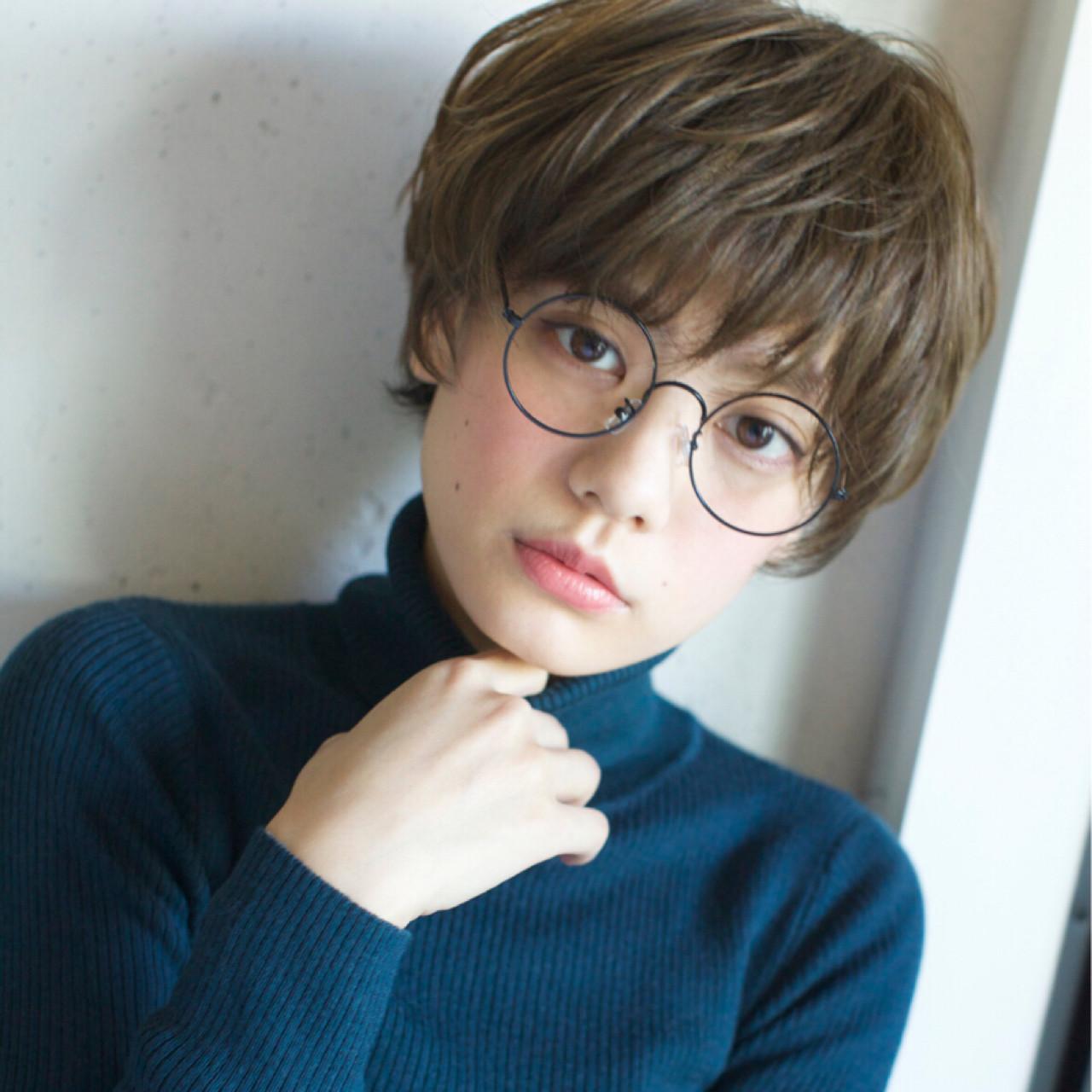 ハイライト 小顔 こなれ感 外国人風 ヘアスタイルや髪型の写真・画像 | 石川 瑠利子 /