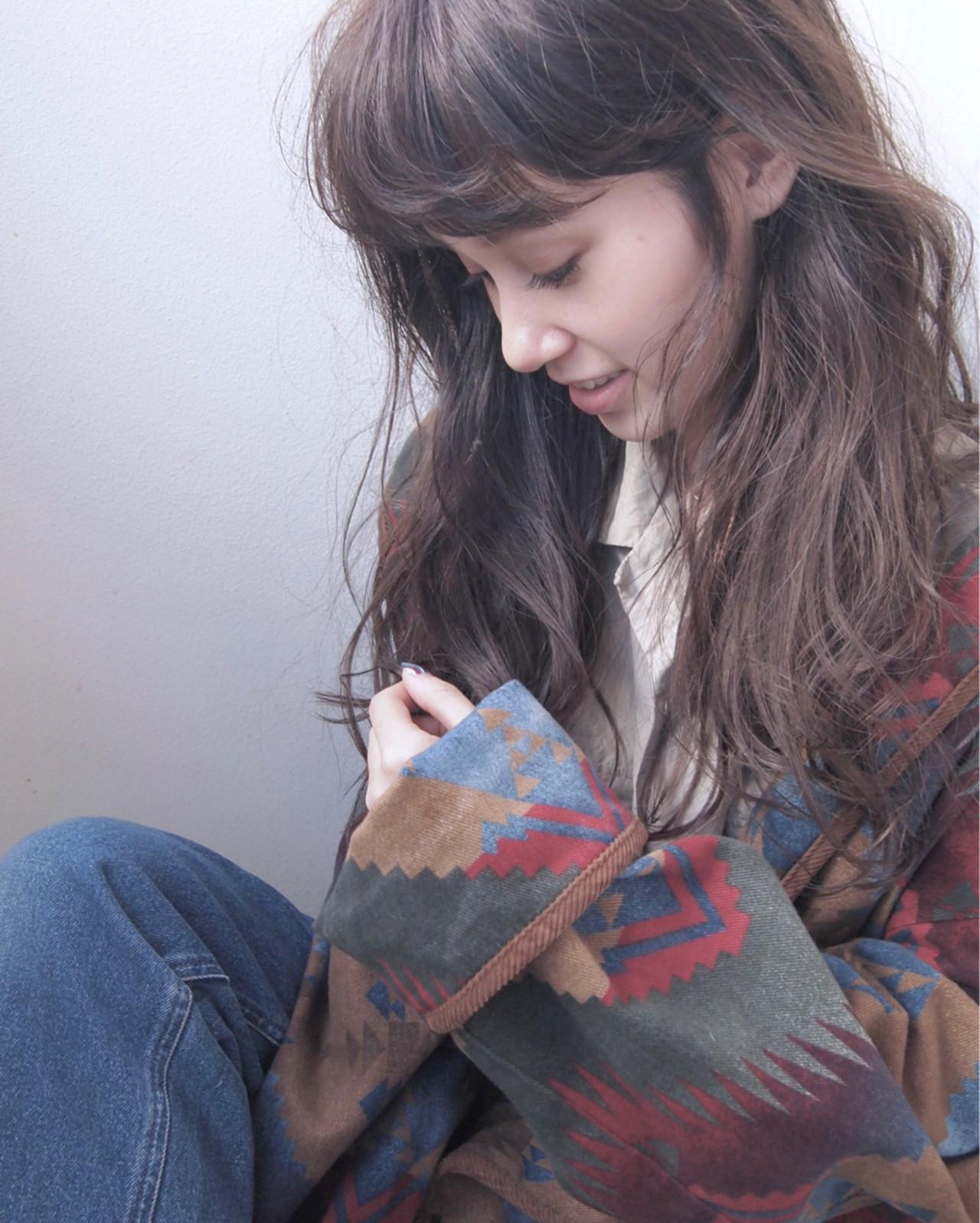 ミルクティー 大人女子 アッシュグレージュ セミロング ヘアスタイルや髪型の写真・画像 | UEKI/nanuk / nanuk二子玉川