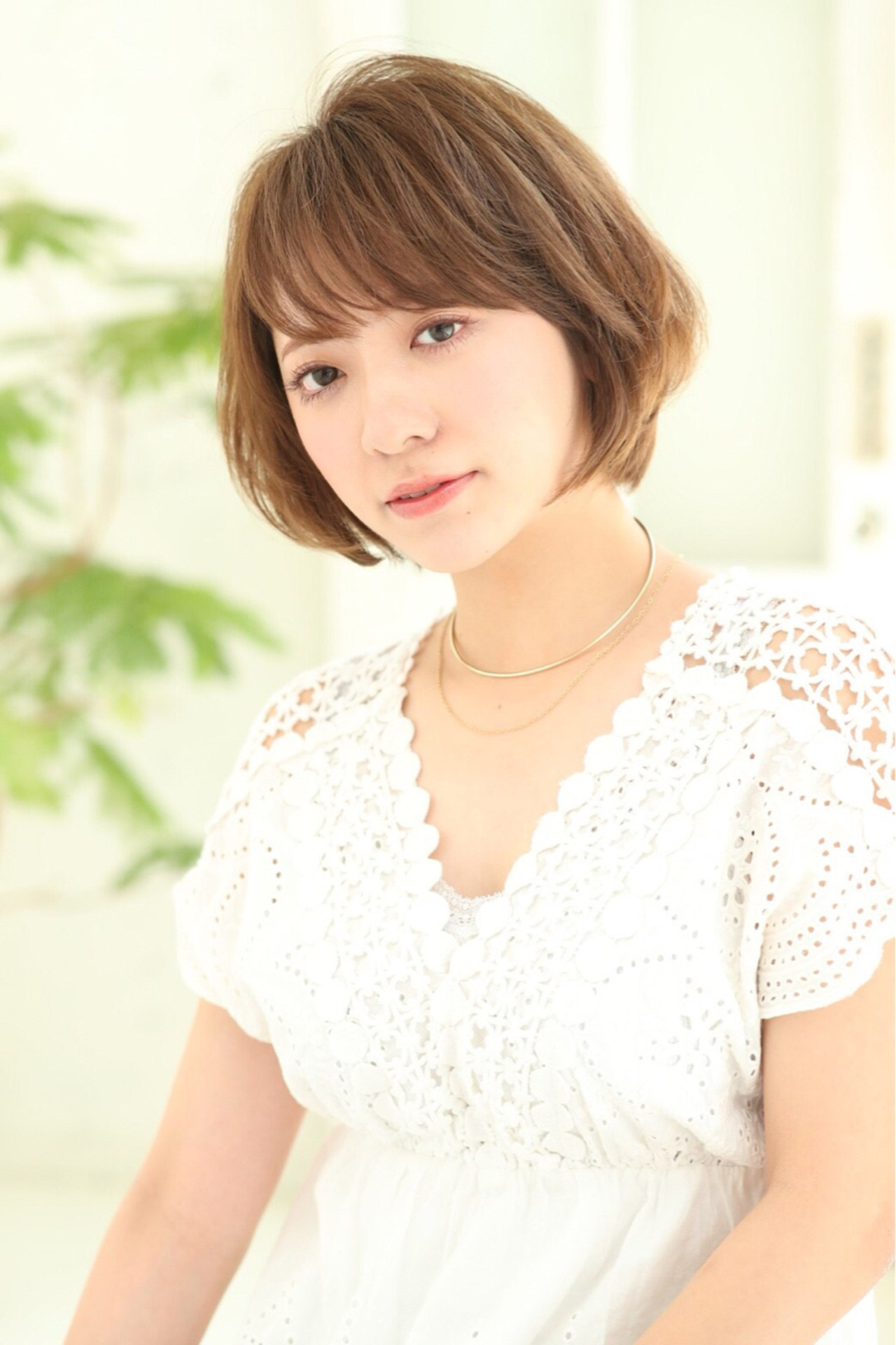似合わせ ショート デート 小顔 ヘアスタイルや髪型の写真・画像   HIKARI /