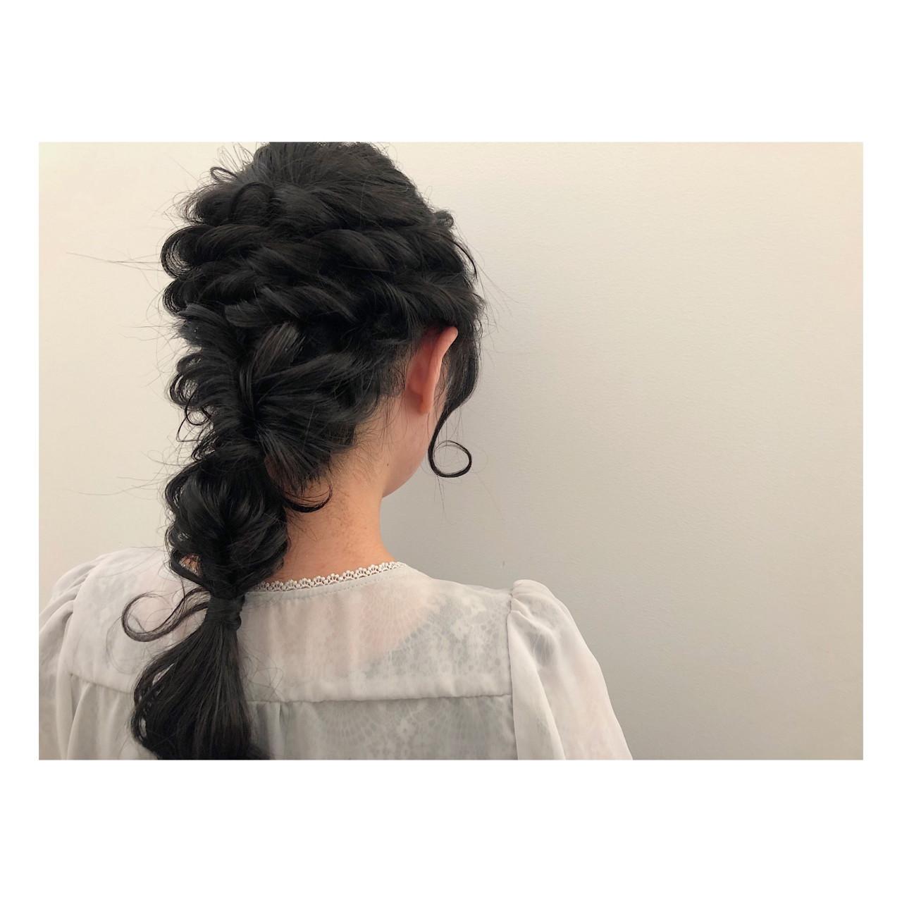 ロング 簡単ヘアアレンジ ショート パーティヘアスタイルや髪型の写真・画像