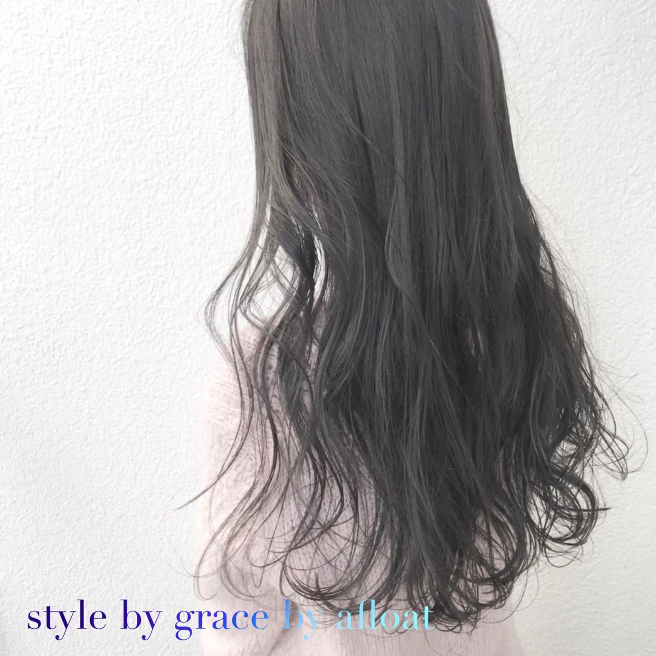 アッシュ アッシュベージュ モード アッシュグレージュヘアスタイルや髪型の写真・画像