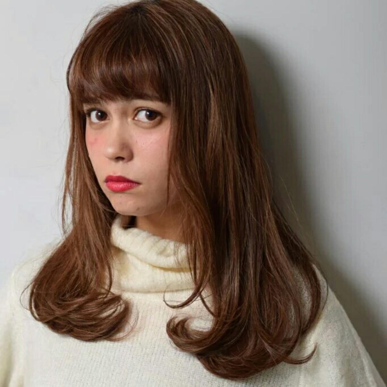 ハイライト ストリート 大人かわいい 前髪ありヘアスタイルや髪型の写真・画像
