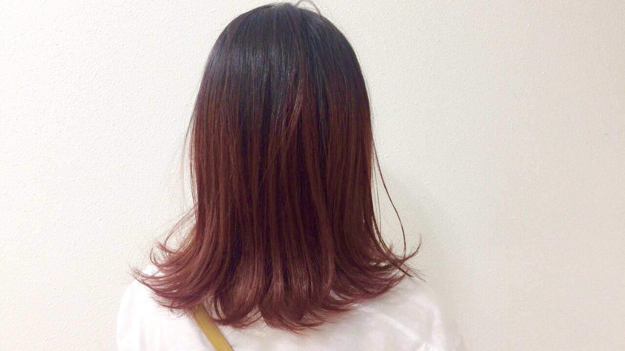ナチュラル ピンク 透明感 フェミニン ヘアスタイルや髪型の写真・画像 | Taniguchi Yukiko / IRODORI hair design