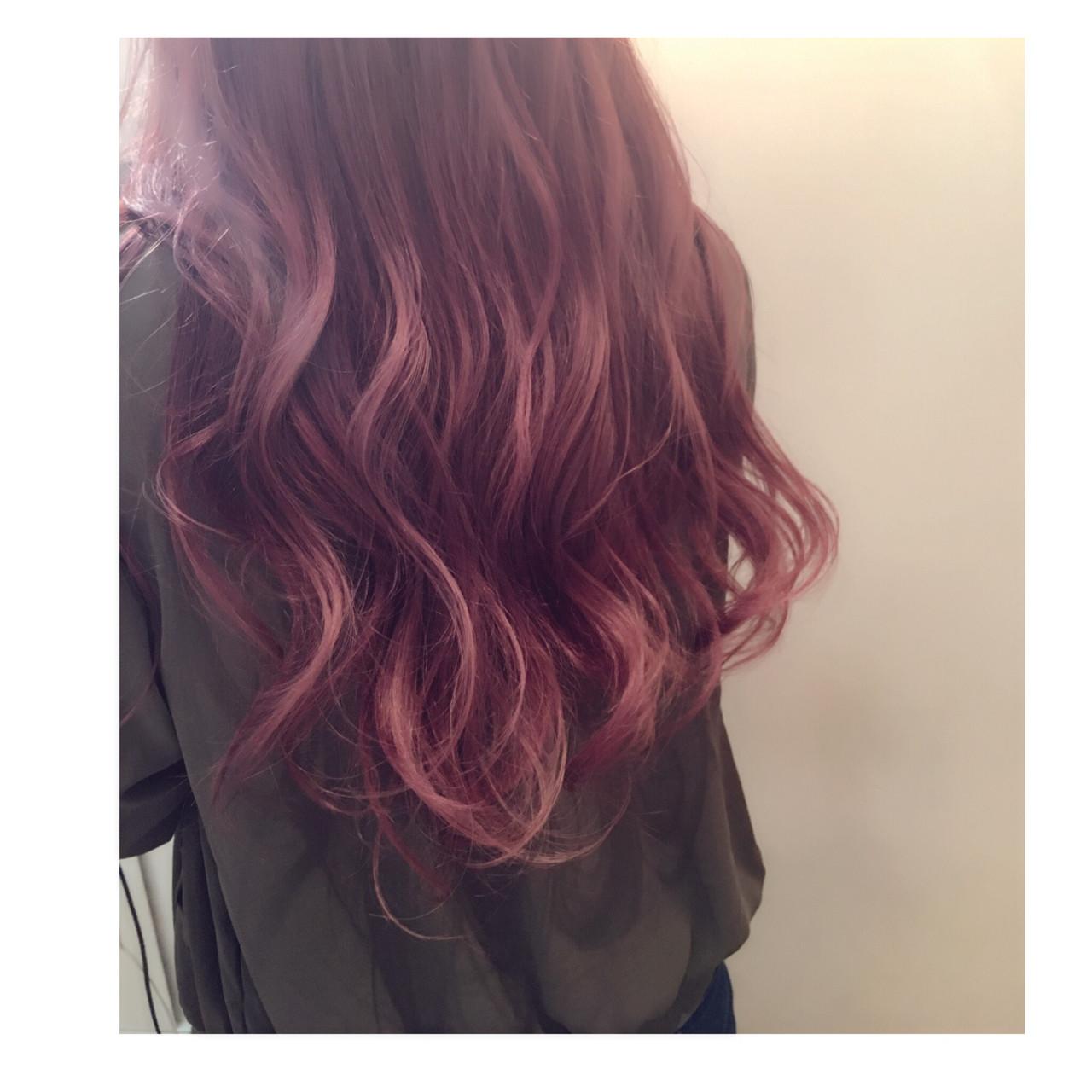 グラデーションカラー ストリート ピンク ラベンダーピンク ヘアスタイルや髪型の写真・画像   西嶋えり子 / HAIR'S Lunetta