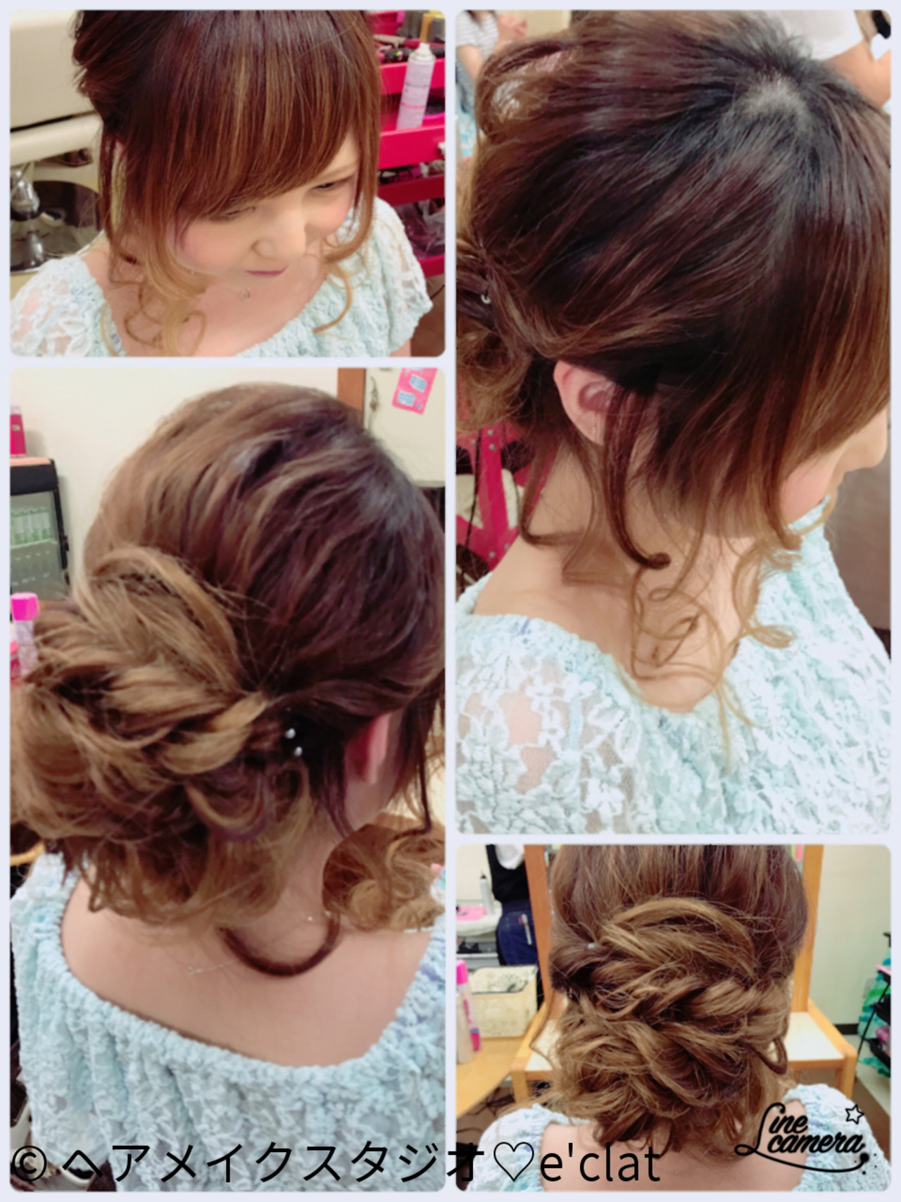 ヘアアレンジ ルーズ ウェーブ フェミニン ヘアスタイルや髪型の写真・画像 | ヘアメイクスタジオ♡e'clat / ヘアメイクスタジオ♡e'clat