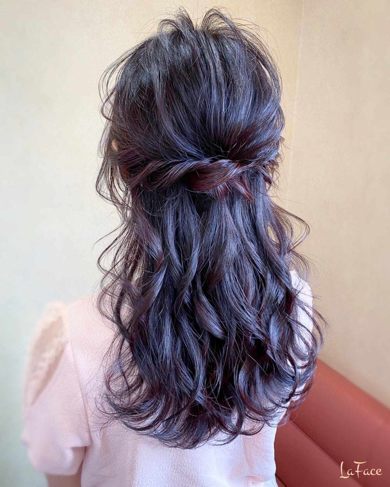 デート ヘアアレンジ パーティ ロング ヘアスタイルや髪型の写真・画像