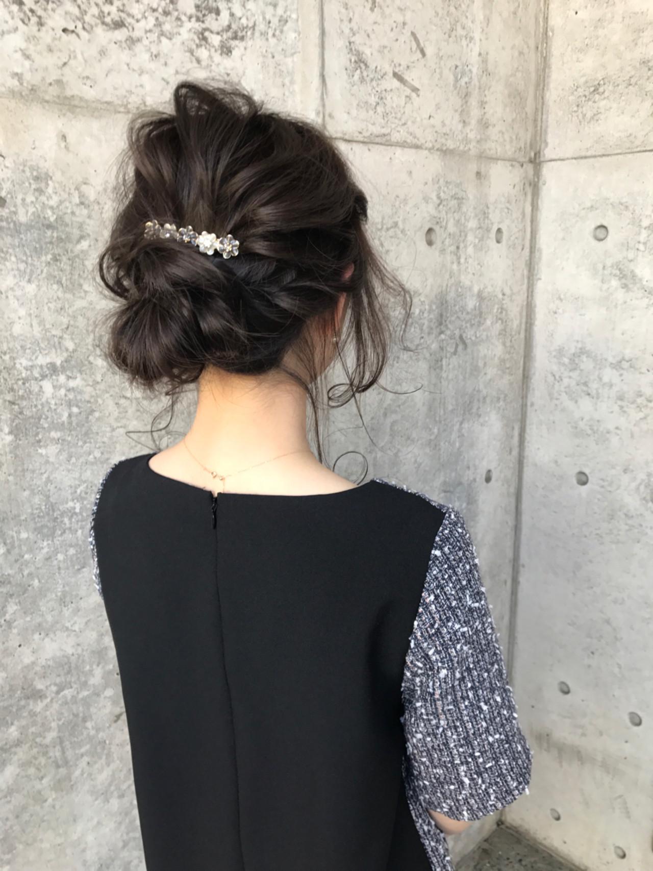 ショート 結婚式 セミロング ナチュラル ヘアスタイルや髪型の写真・画像   Wataru Maeda / cache cache