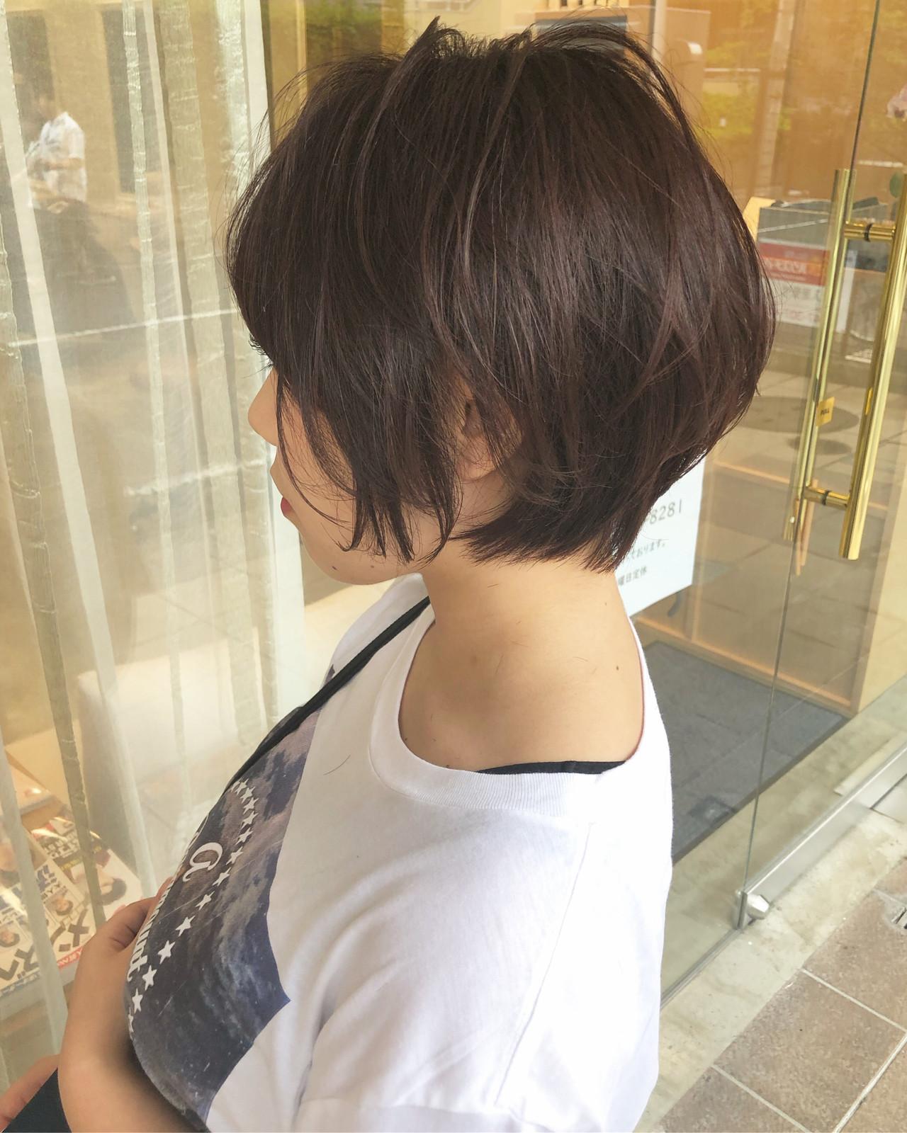 大人ショート ショートボブ ナチュラル ショートヘア ヘアスタイルや髪型の写真・画像 | 古関 拓弥 / TREAT HAIR DESIGN
