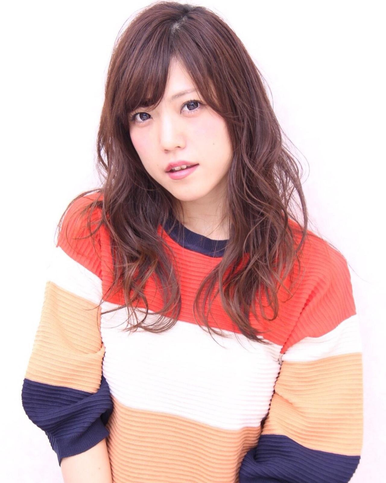 おフェロ ナチュラル ゆるふわ ロング ヘアスタイルや髪型の写真・画像 | Marika Yoshioka /