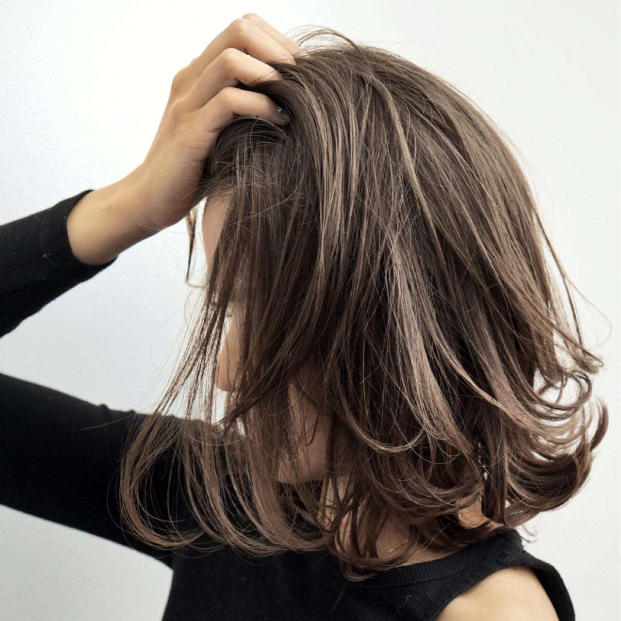 ハイライト ボブ コンサバ オフィス ヘアスタイルや髪型の写真・画像 | 仲澤 武 tornado / tornado  トルネード