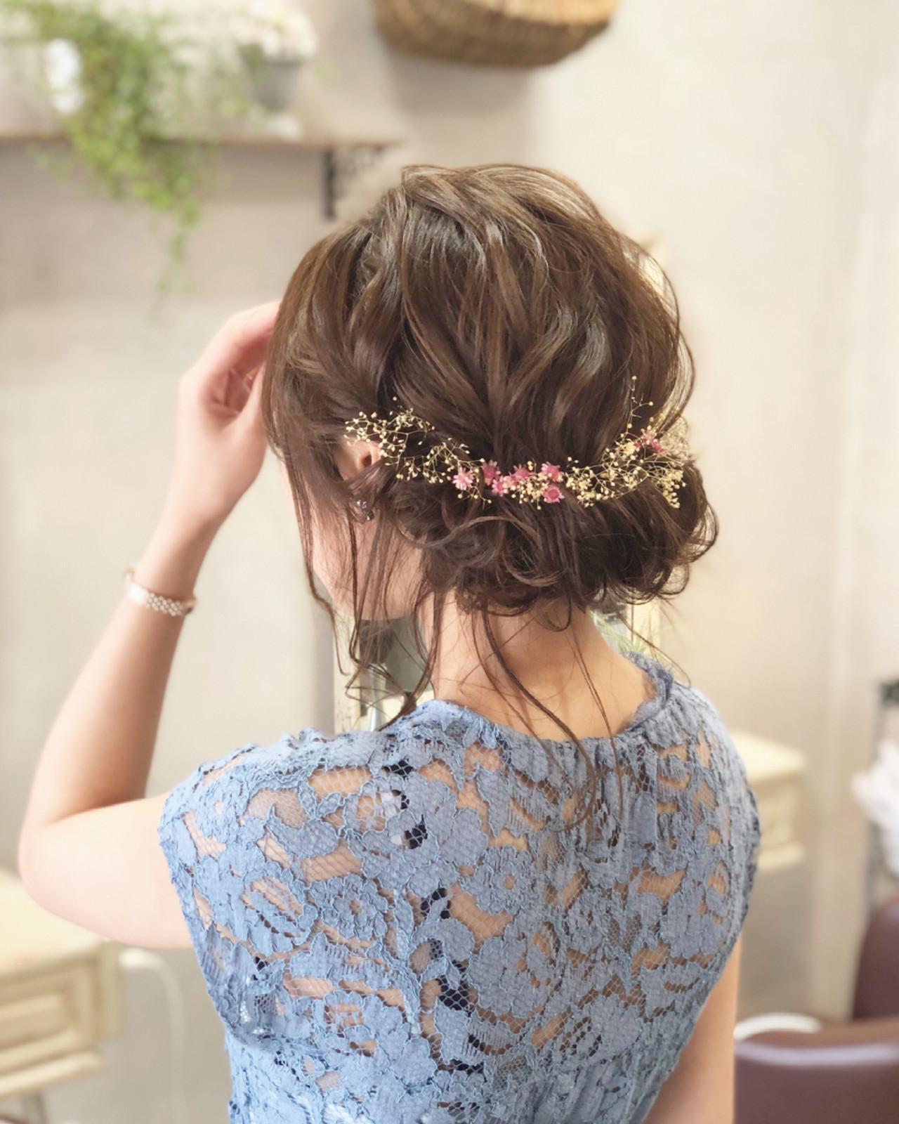 ギブソンタック 花火大会 セミロング お祭りヘアスタイルや髪型の写真・画像