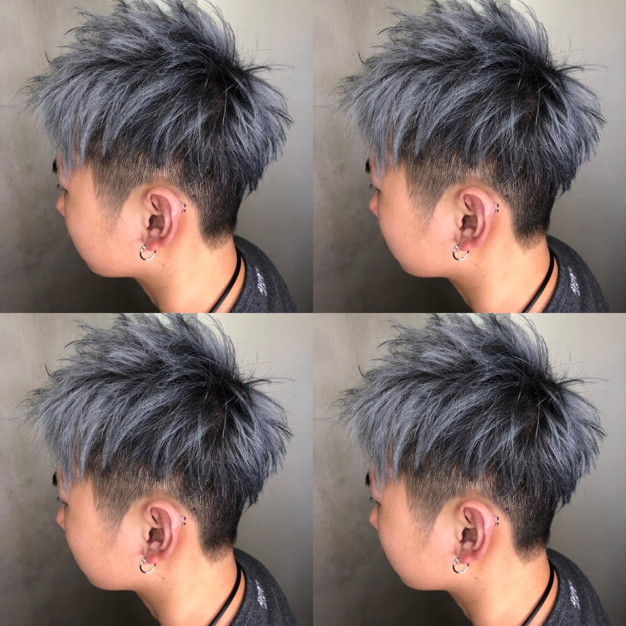 ストリート ショート メンズカラー メンズカット ヘアスタイルや髪型の写真・画像 | 筒井 隆由 / Hair salon mode