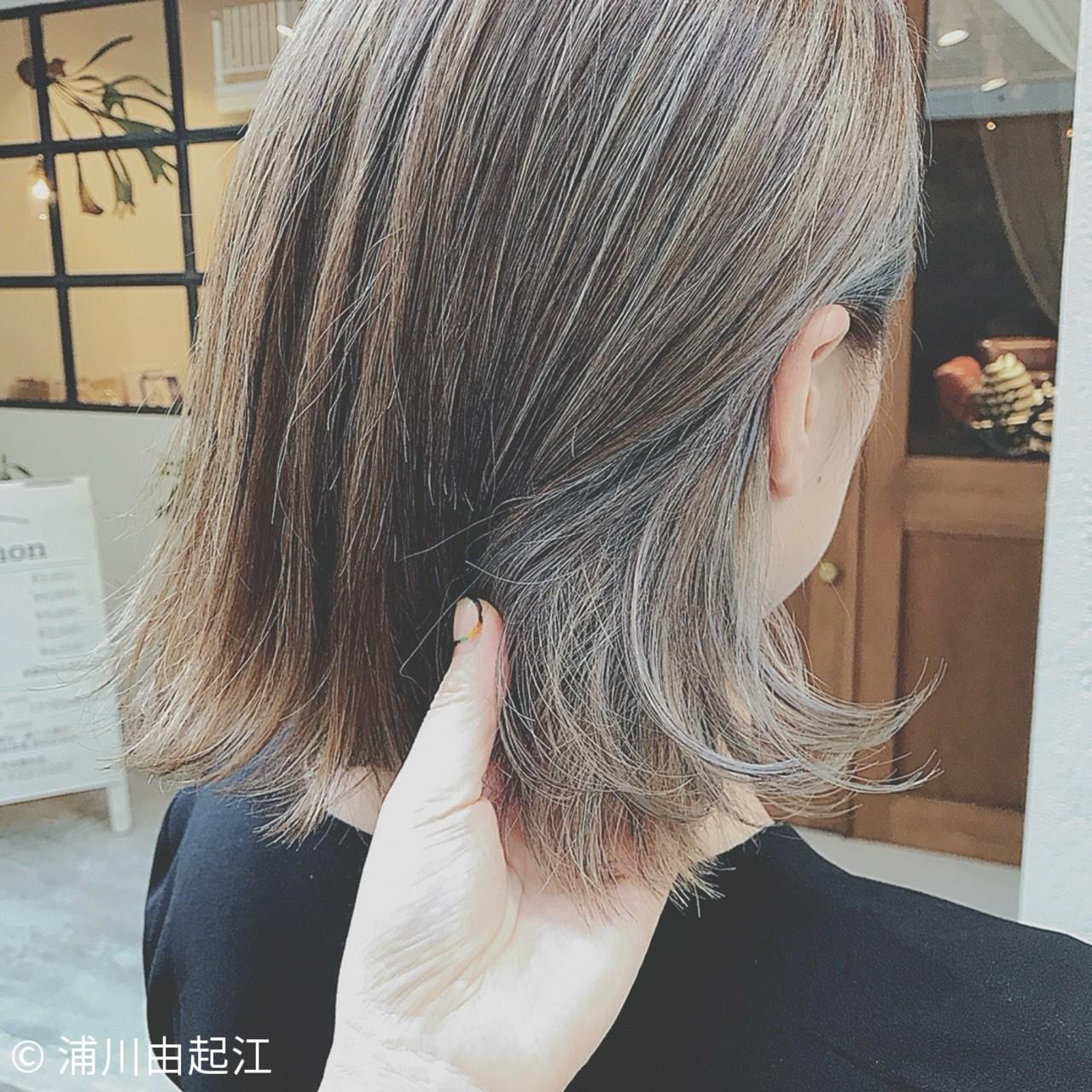 ボブ 大人かわいい 女子力 色気 ヘアスタイルや髪型の写真・画像 | 浦川由起江 / nanon