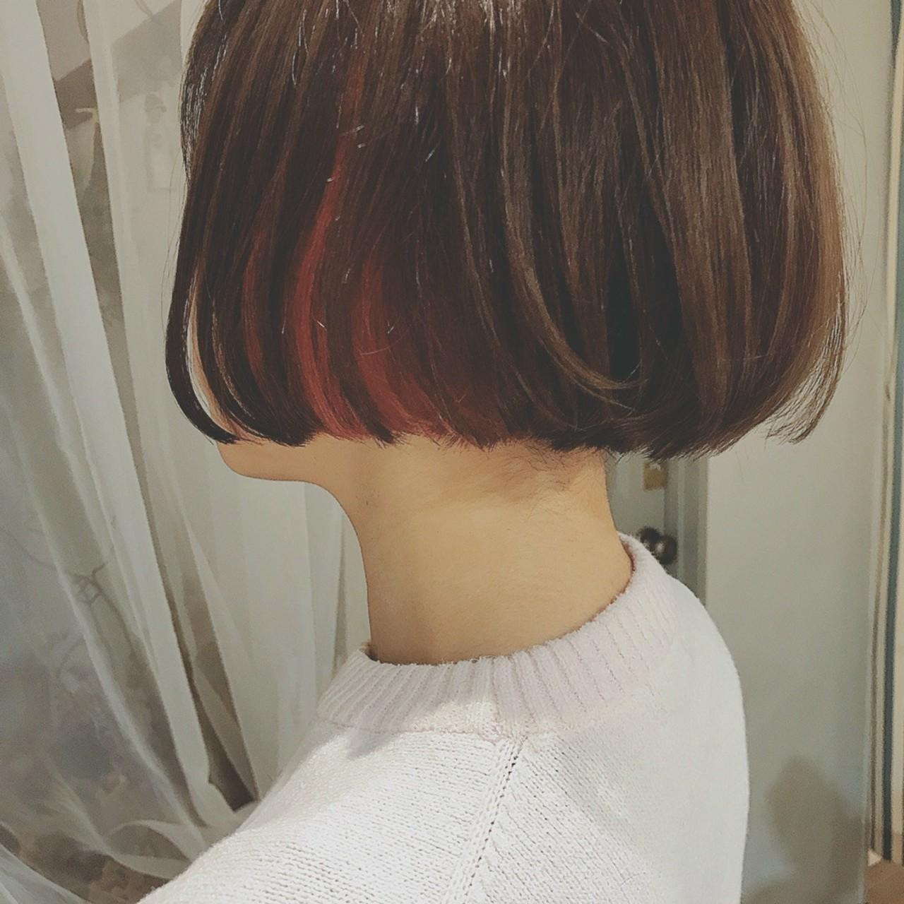 フェミニン デート オフィス ボブ ヘアスタイルや髪型の写真・画像 | 浦川由起江 / nanon