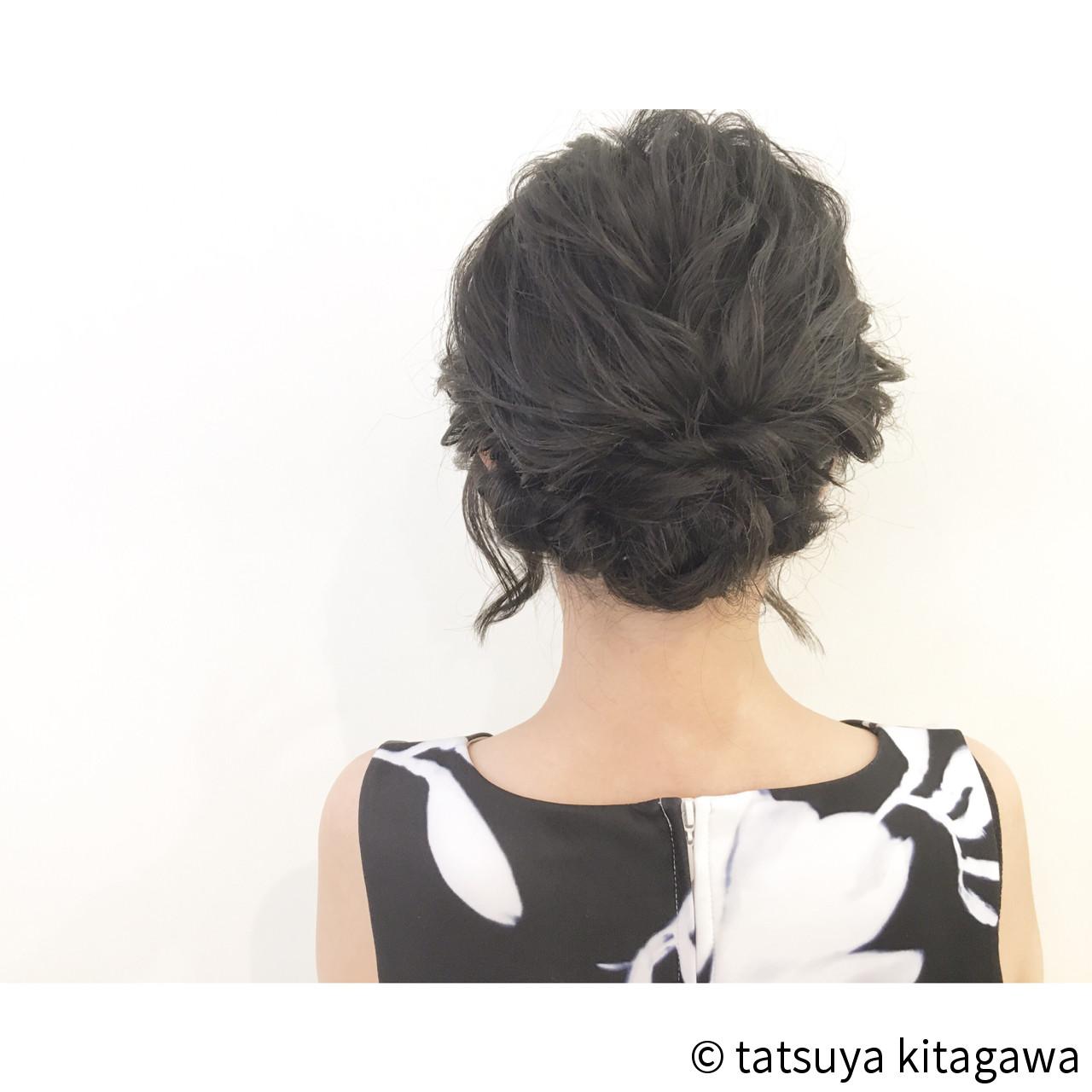 上品 ボブ ゆるふわ アップスタイル ヘアスタイルや髪型の写真・画像 | tatsuya kitagawa / clarity 京都駅前本店