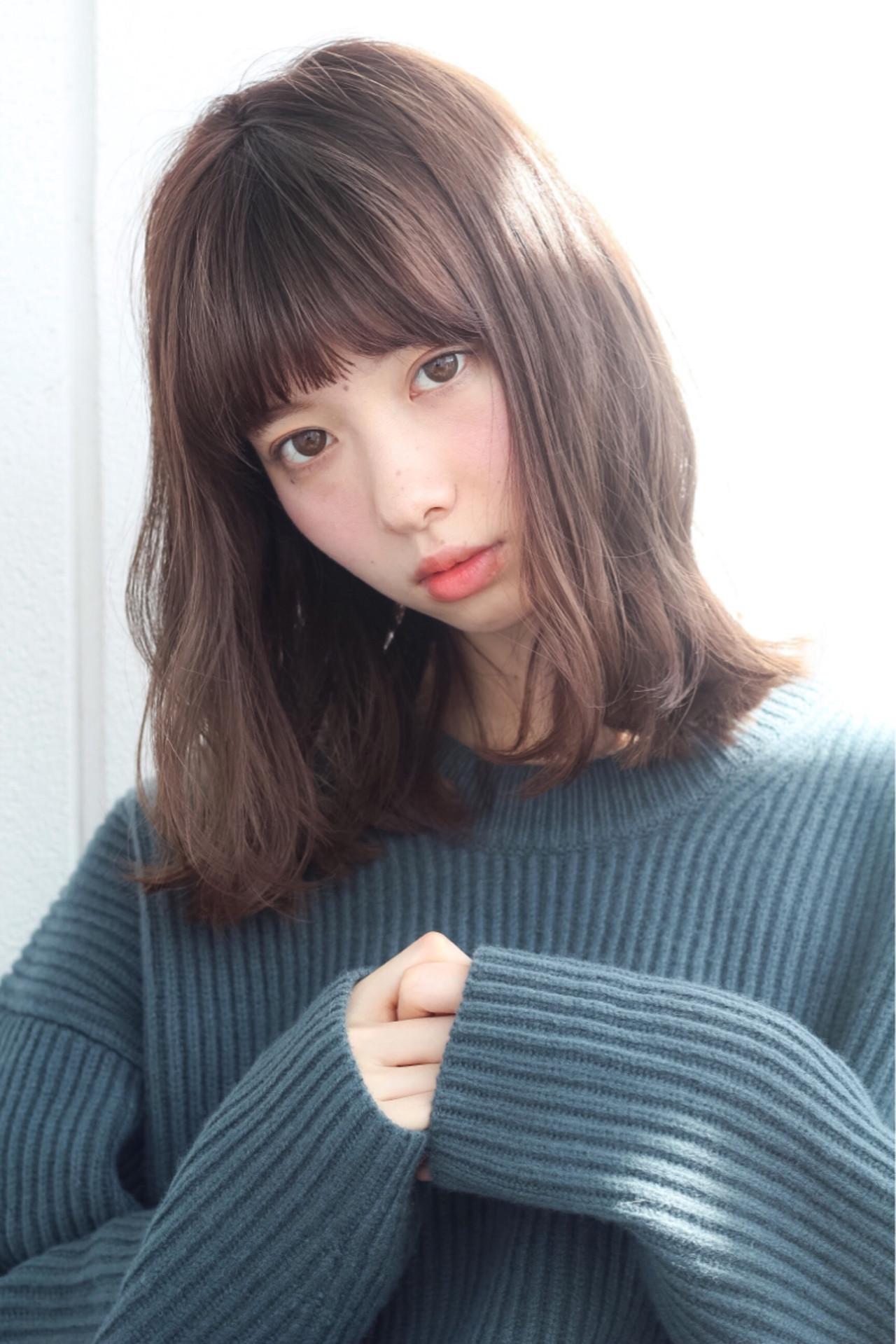 パーマ ミディアム ピュア ガーリー ヘアスタイルや髪型の写真・画像 | lora.garden 細田真吾 / lora.garden