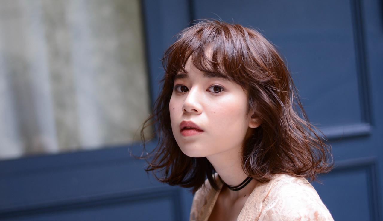 ミディアム 色気 ニュアンス ナチュラル ヘアスタイルや髪型の写真・画像 | 矢沢和也 / MAKE'S
