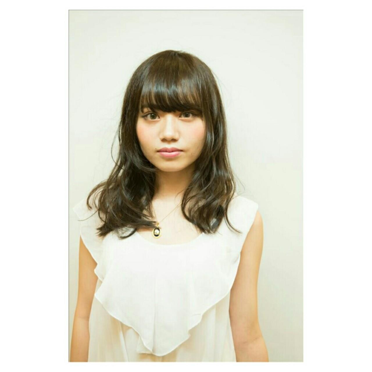 ゆるふわ 前髪あり モテ髪 ナチュラル ヘアスタイルや髪型の写真・画像 | Yoshiaki harada / BLOCK hairmake